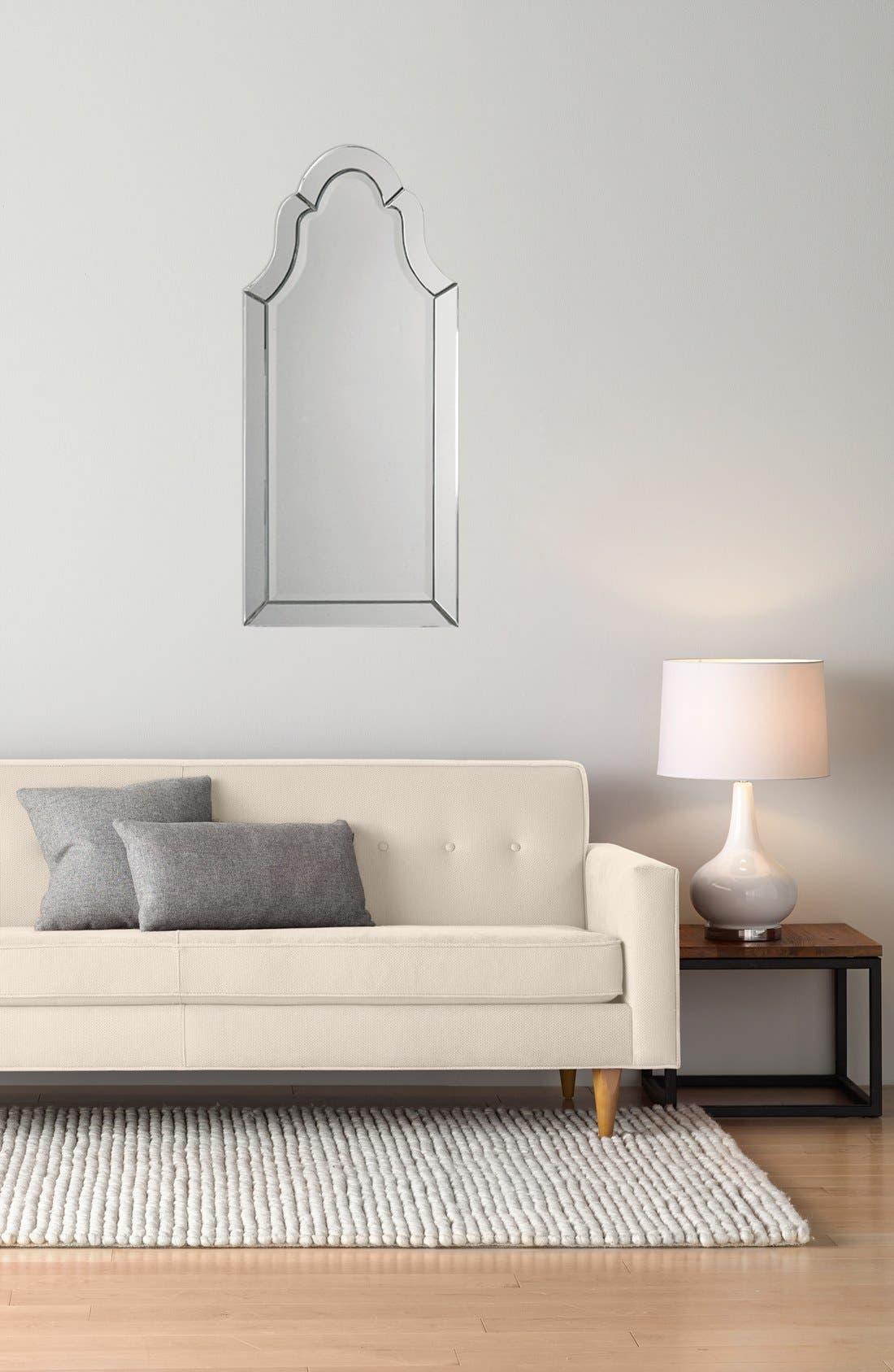 'Hovan' Frameless Arch Mirror,                             Alternate thumbnail 2, color,                             100