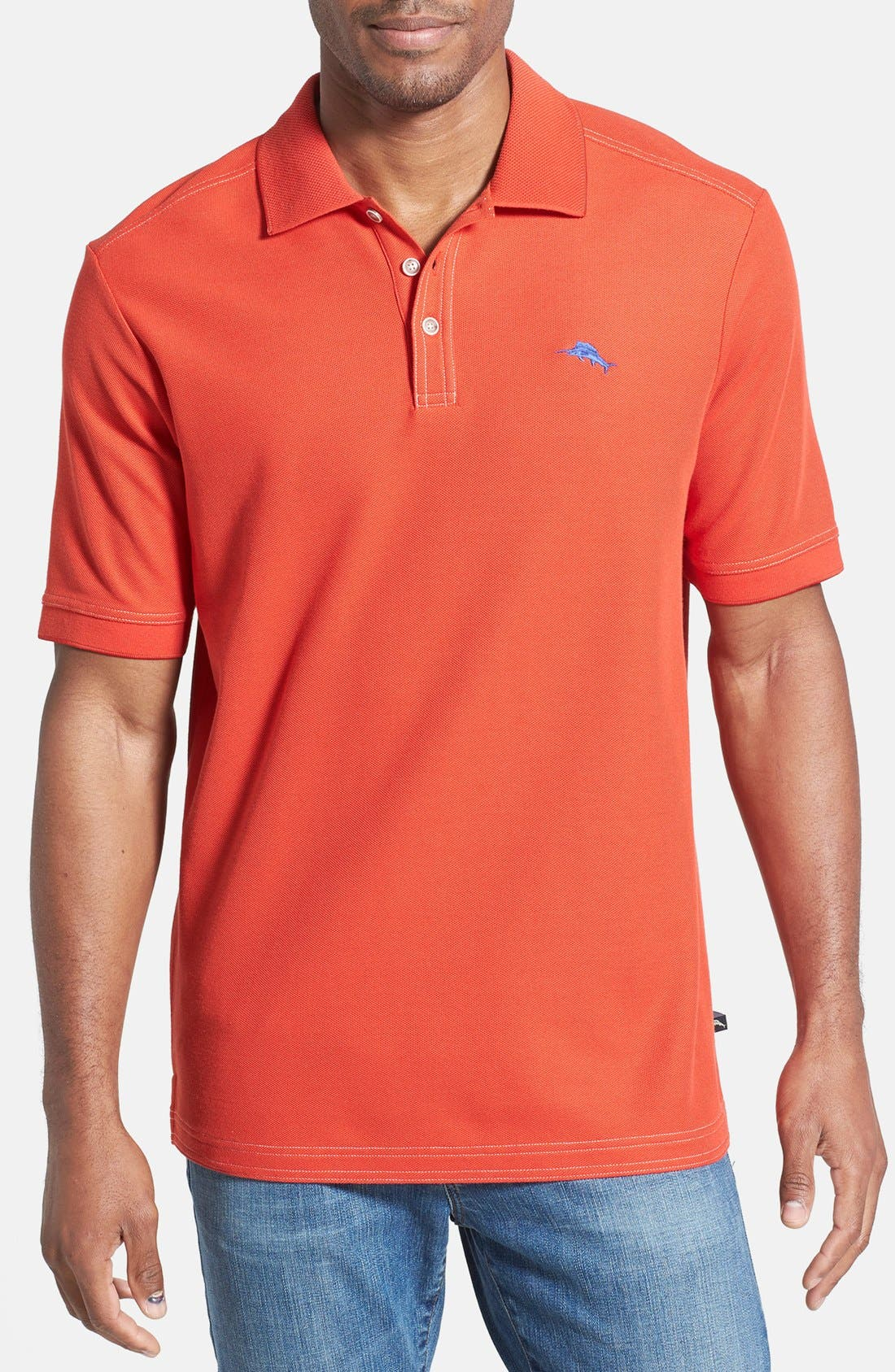 'The Emfielder' Original Fit Piqué Polo,                             Main thumbnail 100, color,