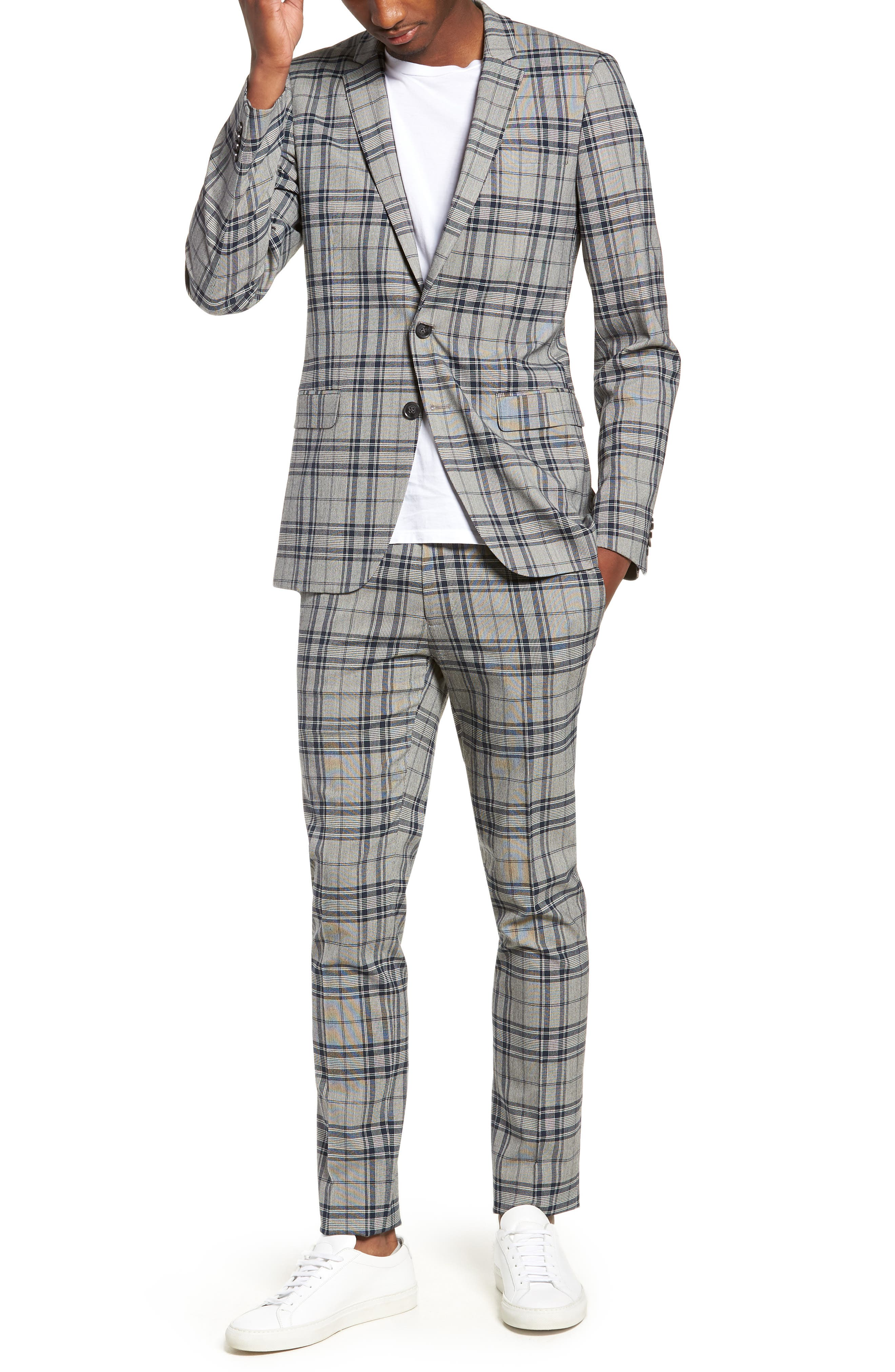Classic Fit Suit Trousers,                             Alternate thumbnail 7, color,                             020