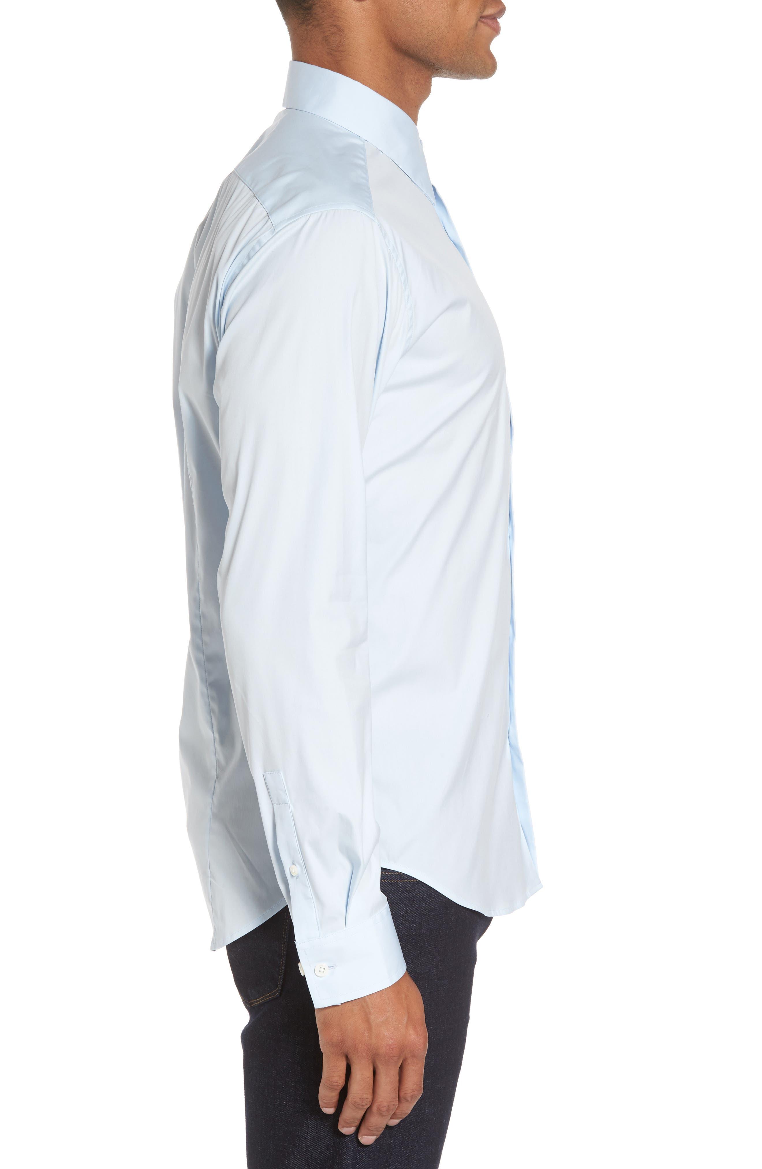 'Sylvain Wealth' Trim Fit Sport Shirt,                             Alternate thumbnail 4, color,                             426