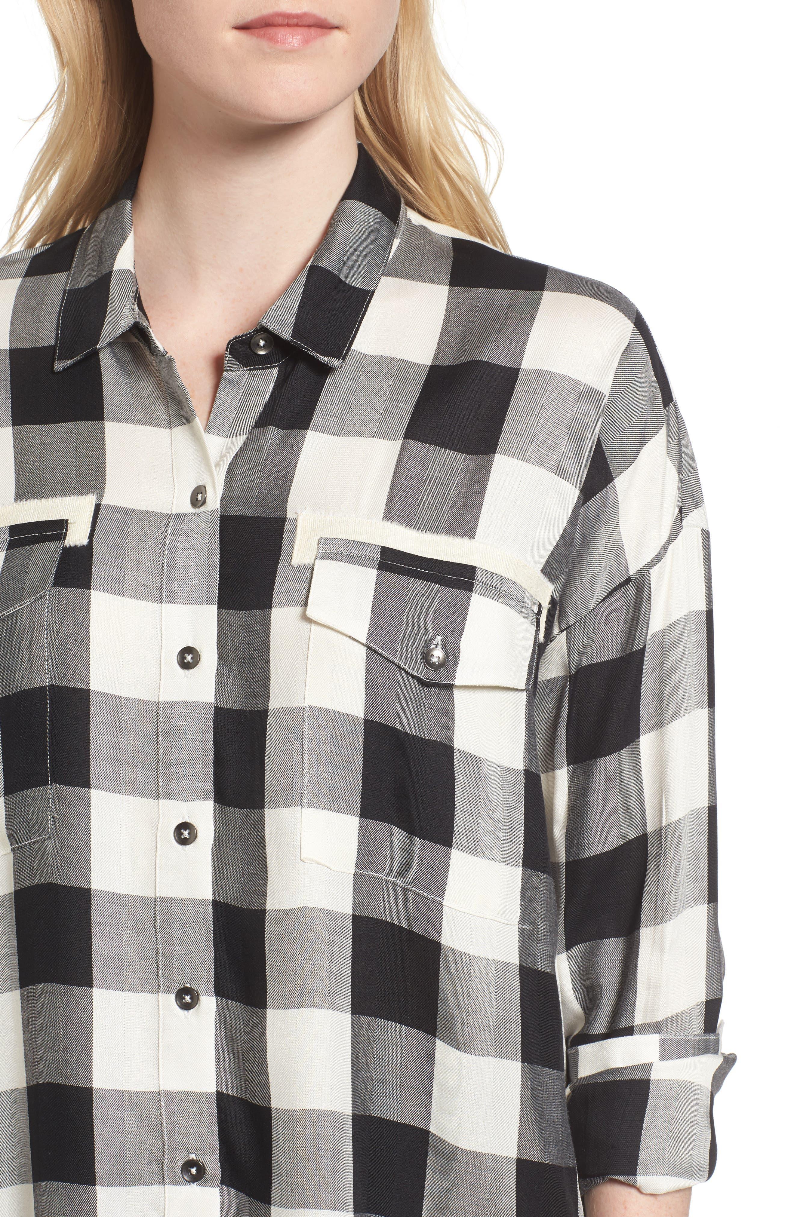 Buffalo Check Shirt,                             Alternate thumbnail 4, color,                             900