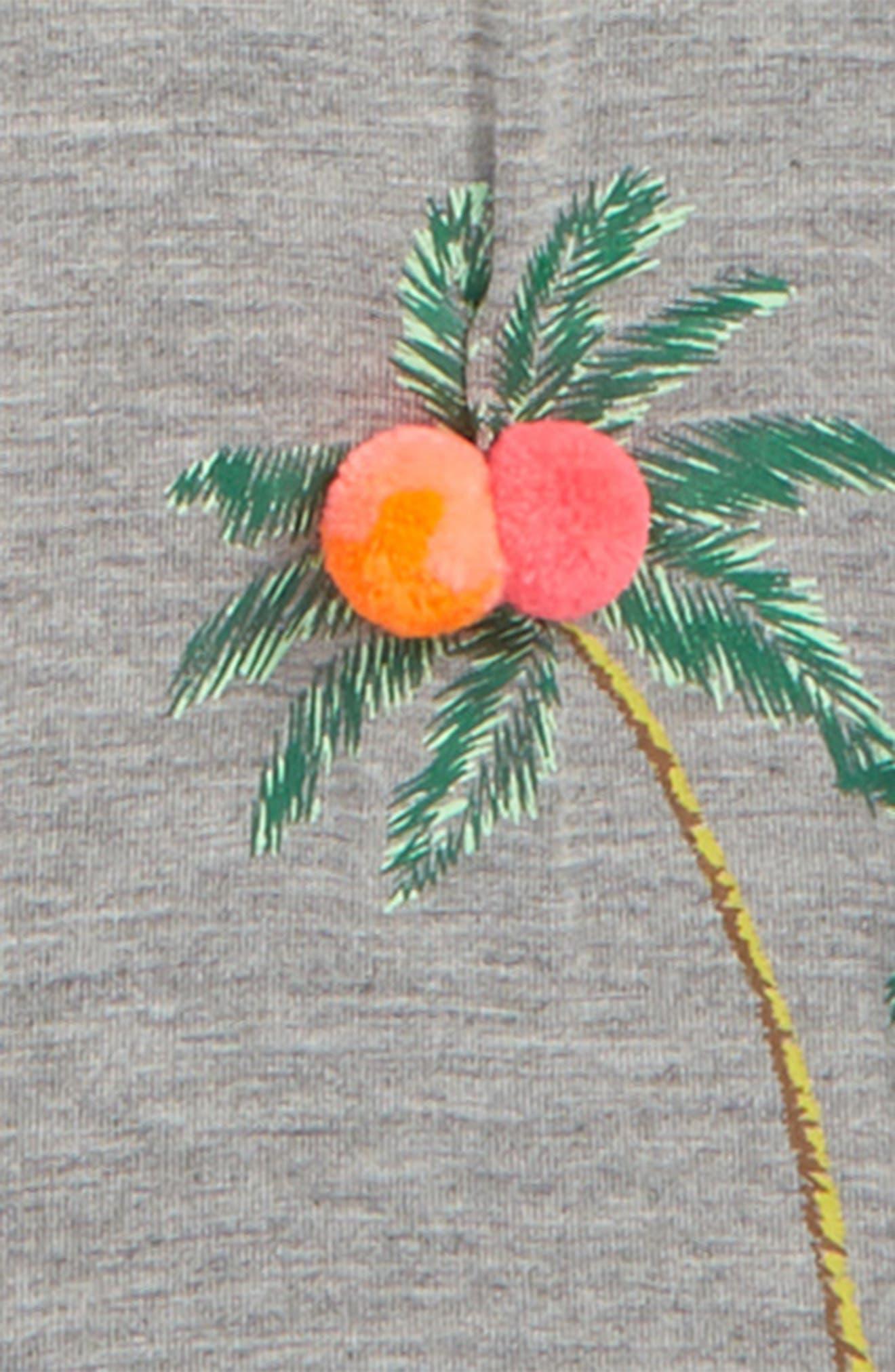 Palm Tree Leggings,                             Alternate thumbnail 4, color,                             020