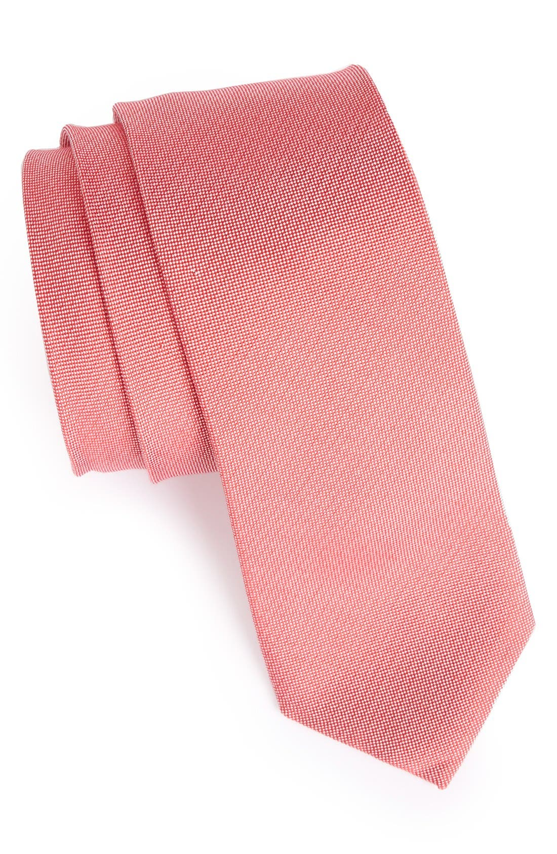 Woven Silk & Cotton Tie,                             Main thumbnail 4, color,