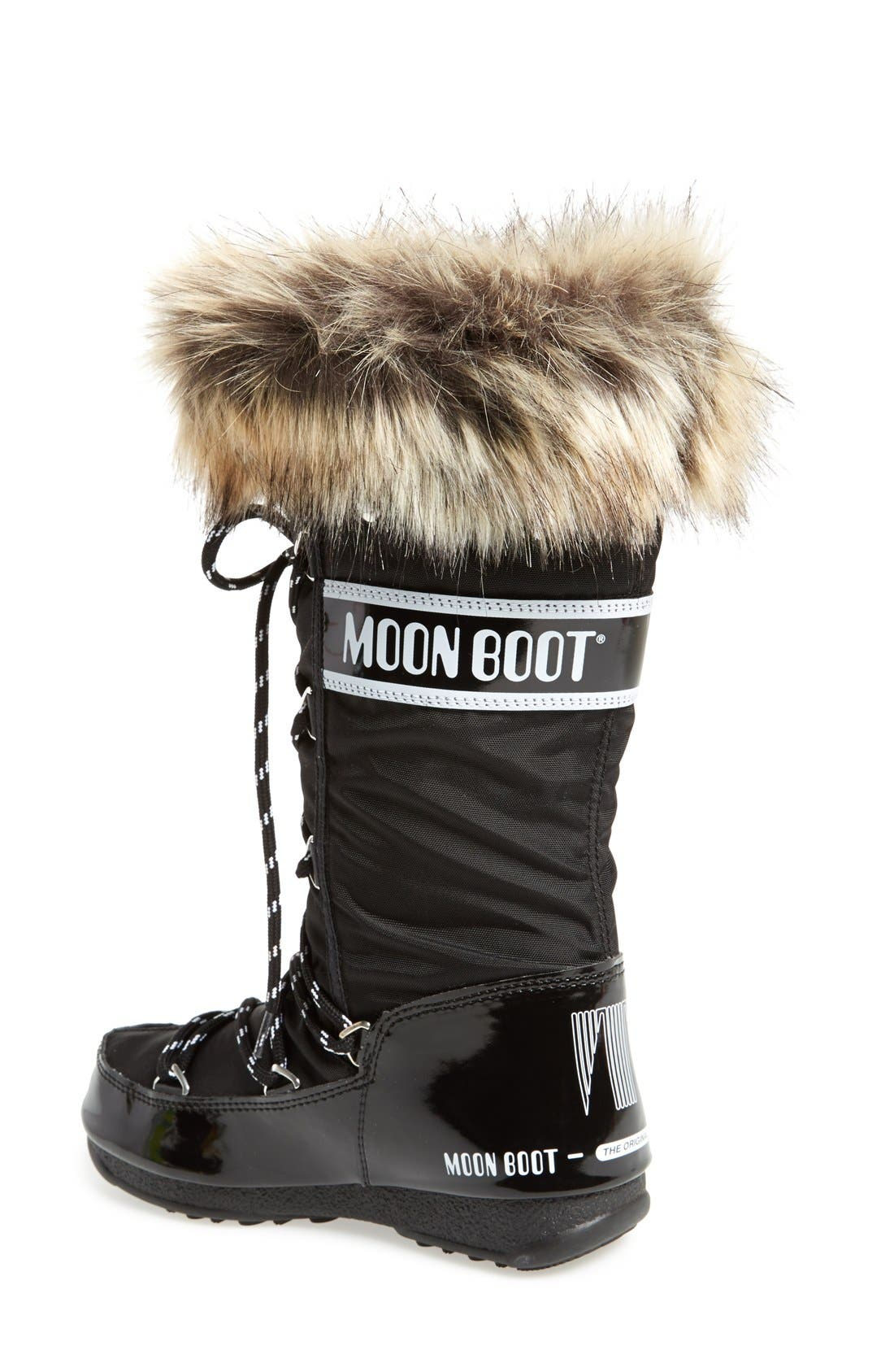 'Monaco' Waterproof Insulated Moon Boot<sup>®</sup>,                             Alternate thumbnail 2, color,                             001