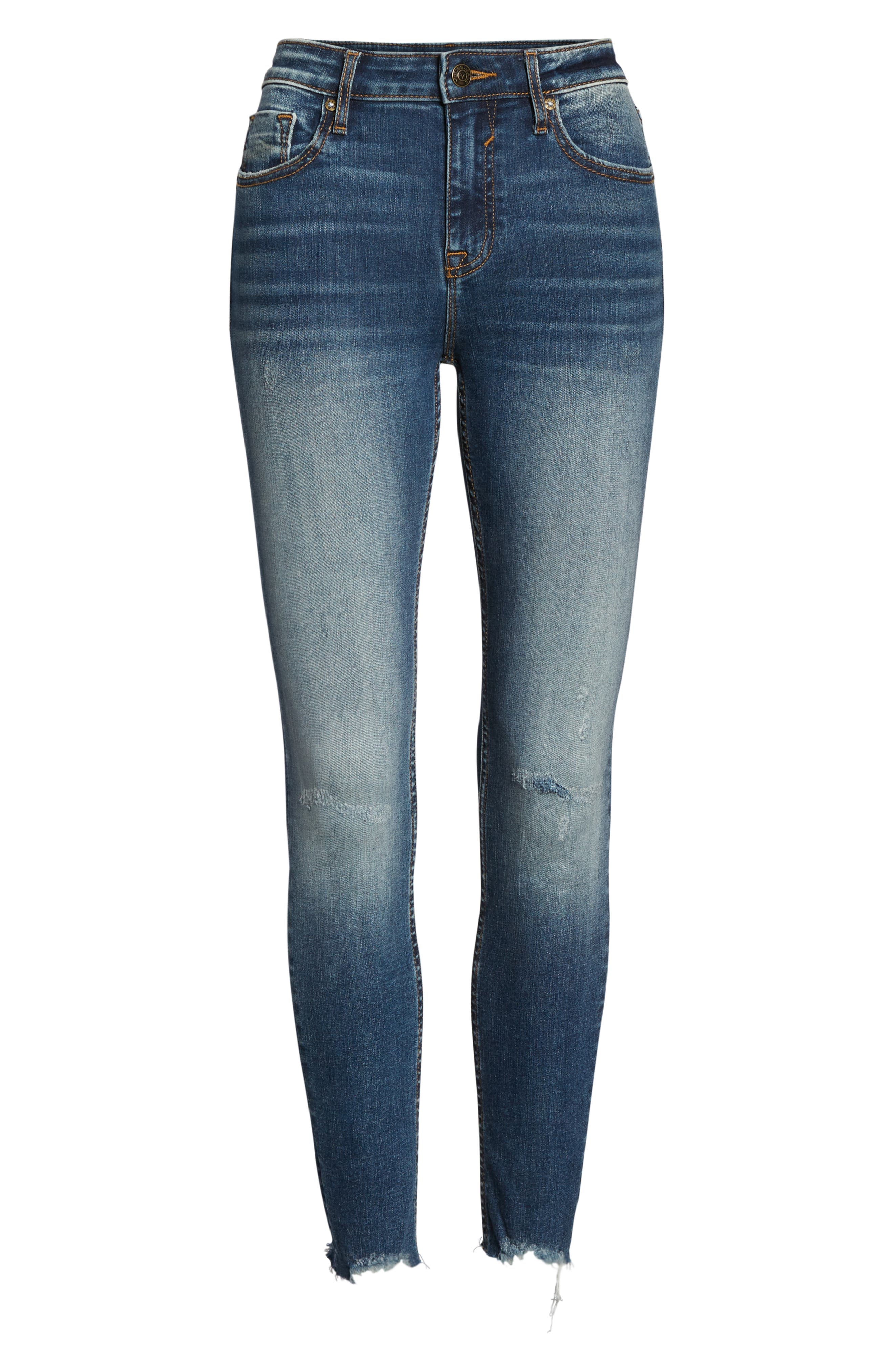 VIGOSS,                             Marley Distressed Cutoff Skinny Jeans,                             Alternate thumbnail 7, color,                             400