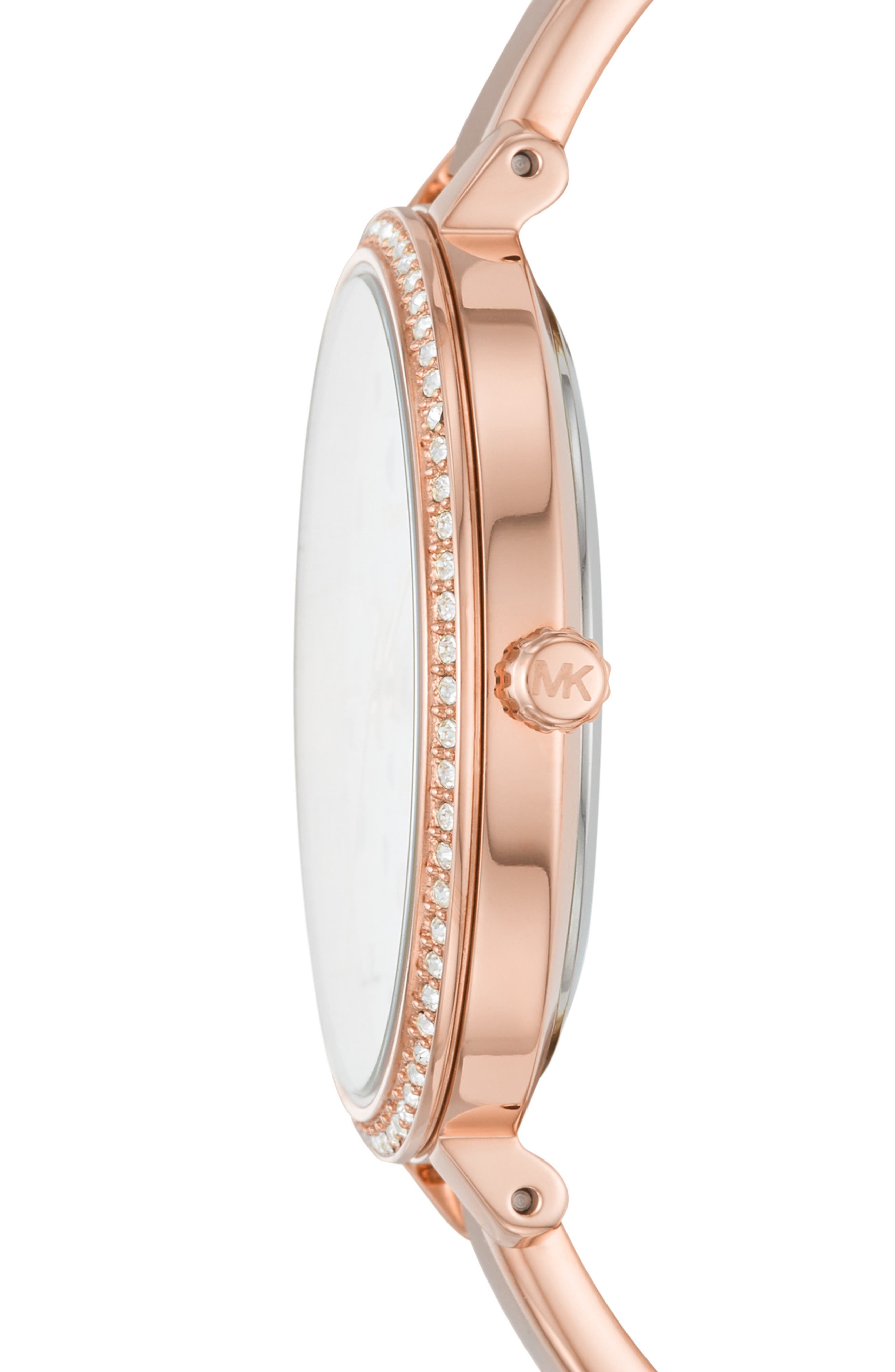 Jaryn Pavé Bangle Watch, 36mm,                             Alternate thumbnail 2, color,                             ROSE GOLD/ WHITE/ ROSE GOLD