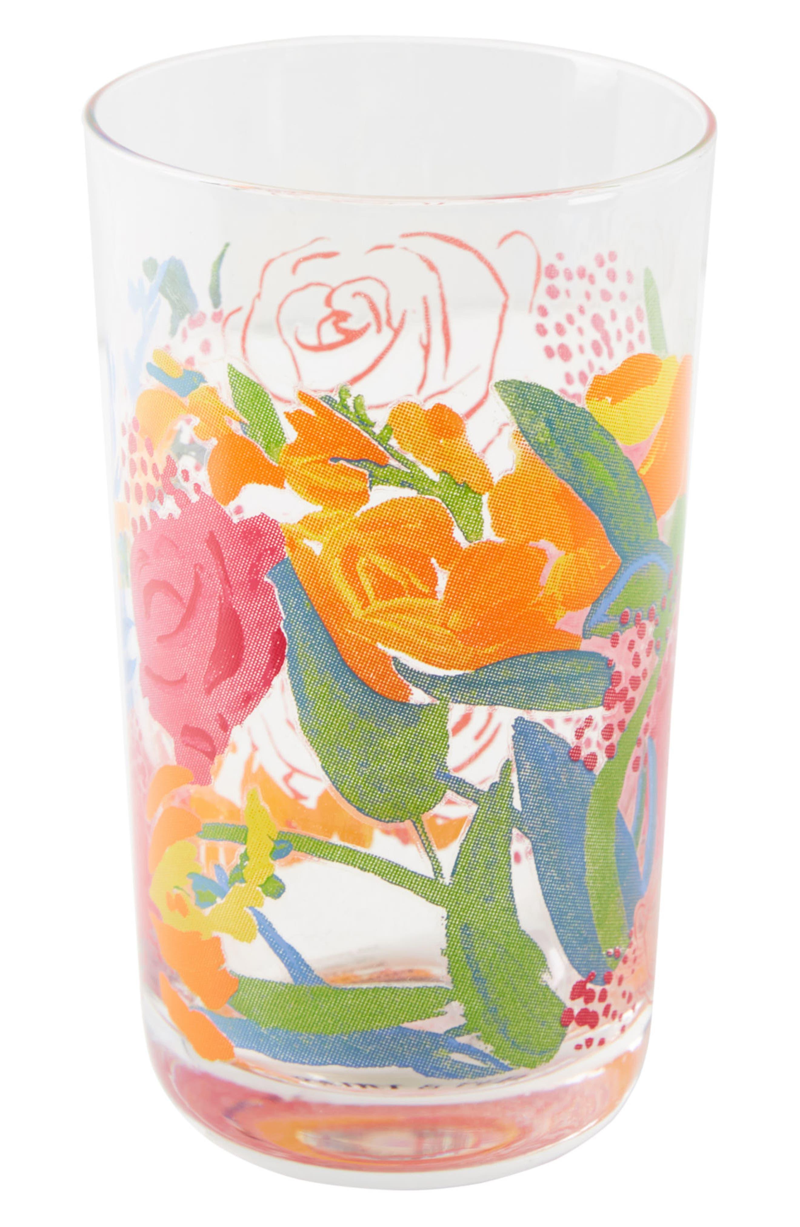 Paint + Petals Juice Glass,                             Alternate thumbnail 3, color,                             PURPLE