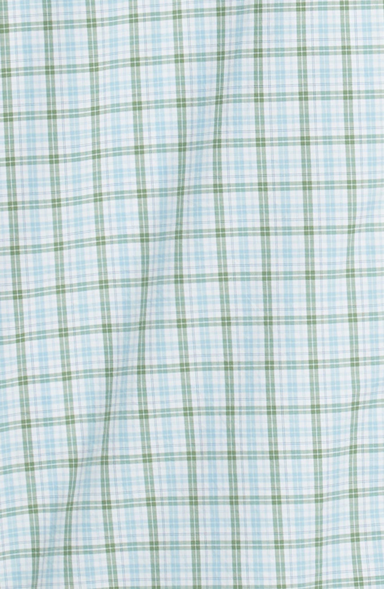 Crown Finish Linden Check Regular Fit Sport Shirt,                             Alternate thumbnail 6, color,                             BLUE