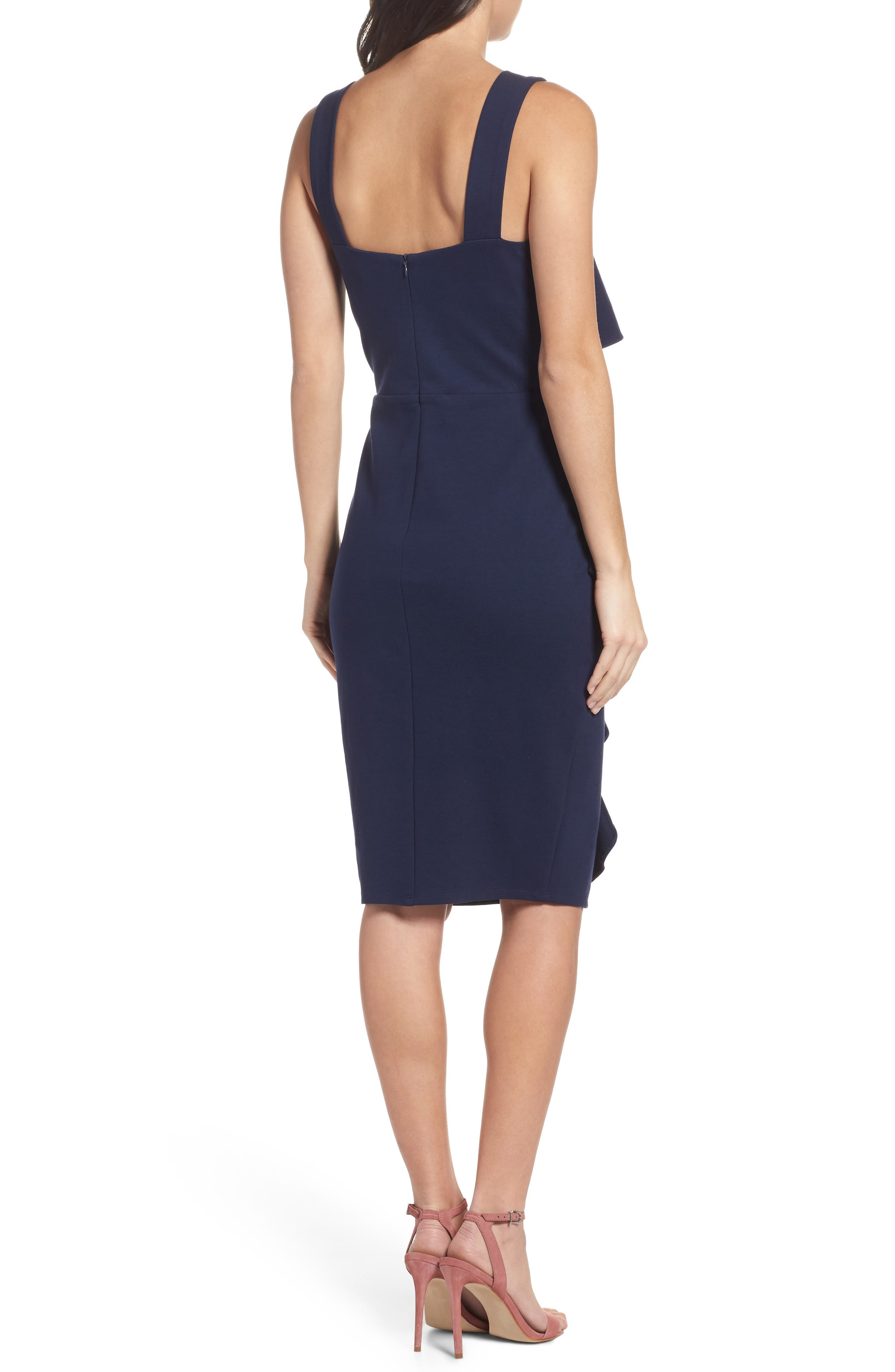 Camilla Ruffle Sheath Dress,                             Alternate thumbnail 2, color,