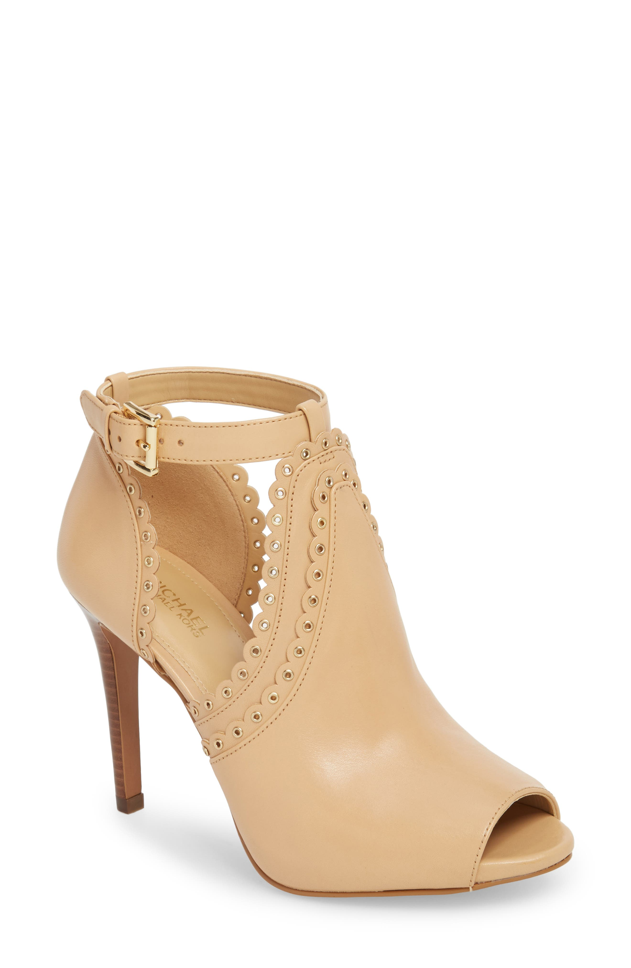 Jessie Ankle Strap Sandal,                         Main,                         color, BUTTERNUT LEATHER