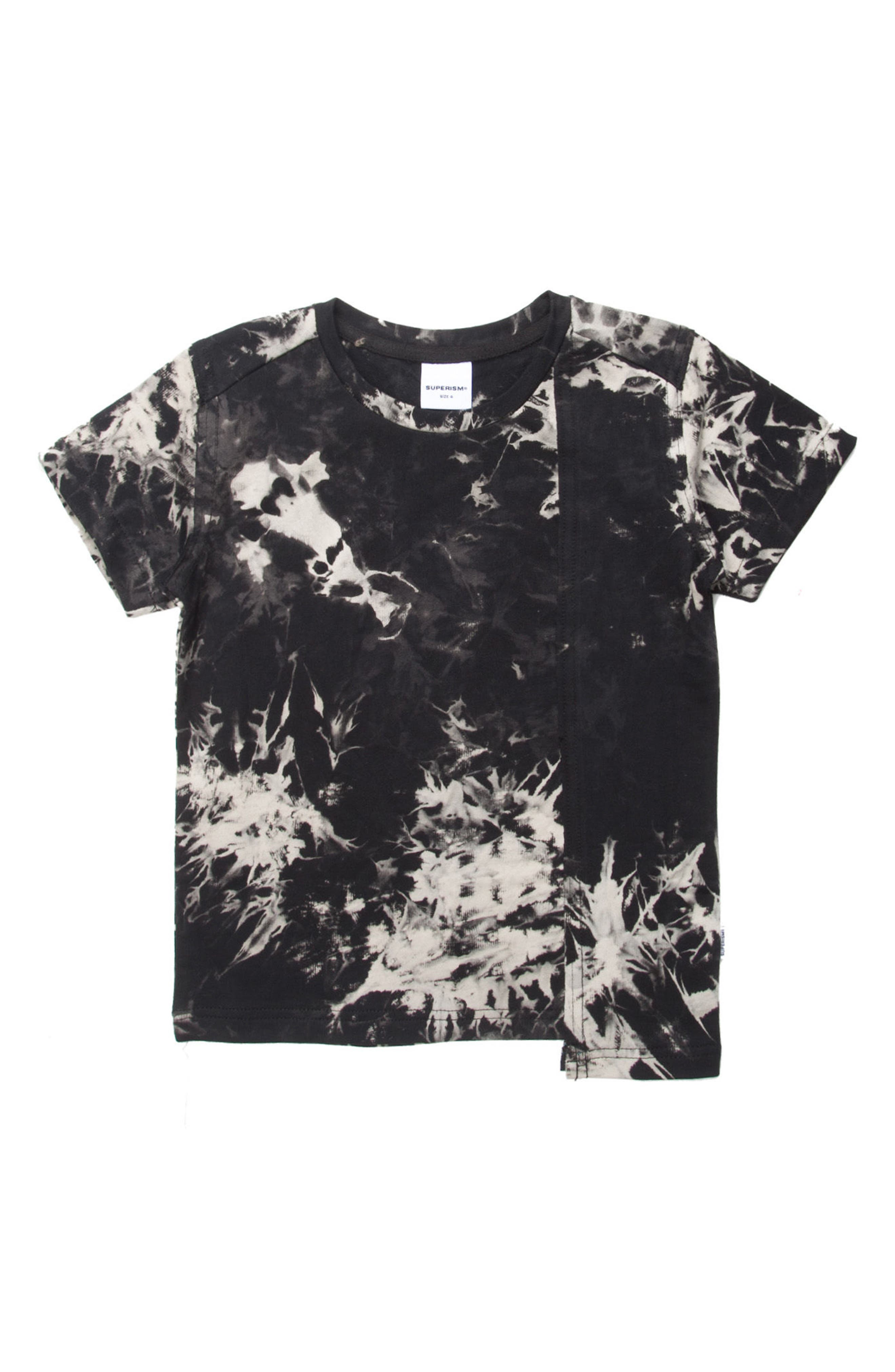 Reid Tie Dye T-Shirt,                             Main thumbnail 1, color,                             BLACK