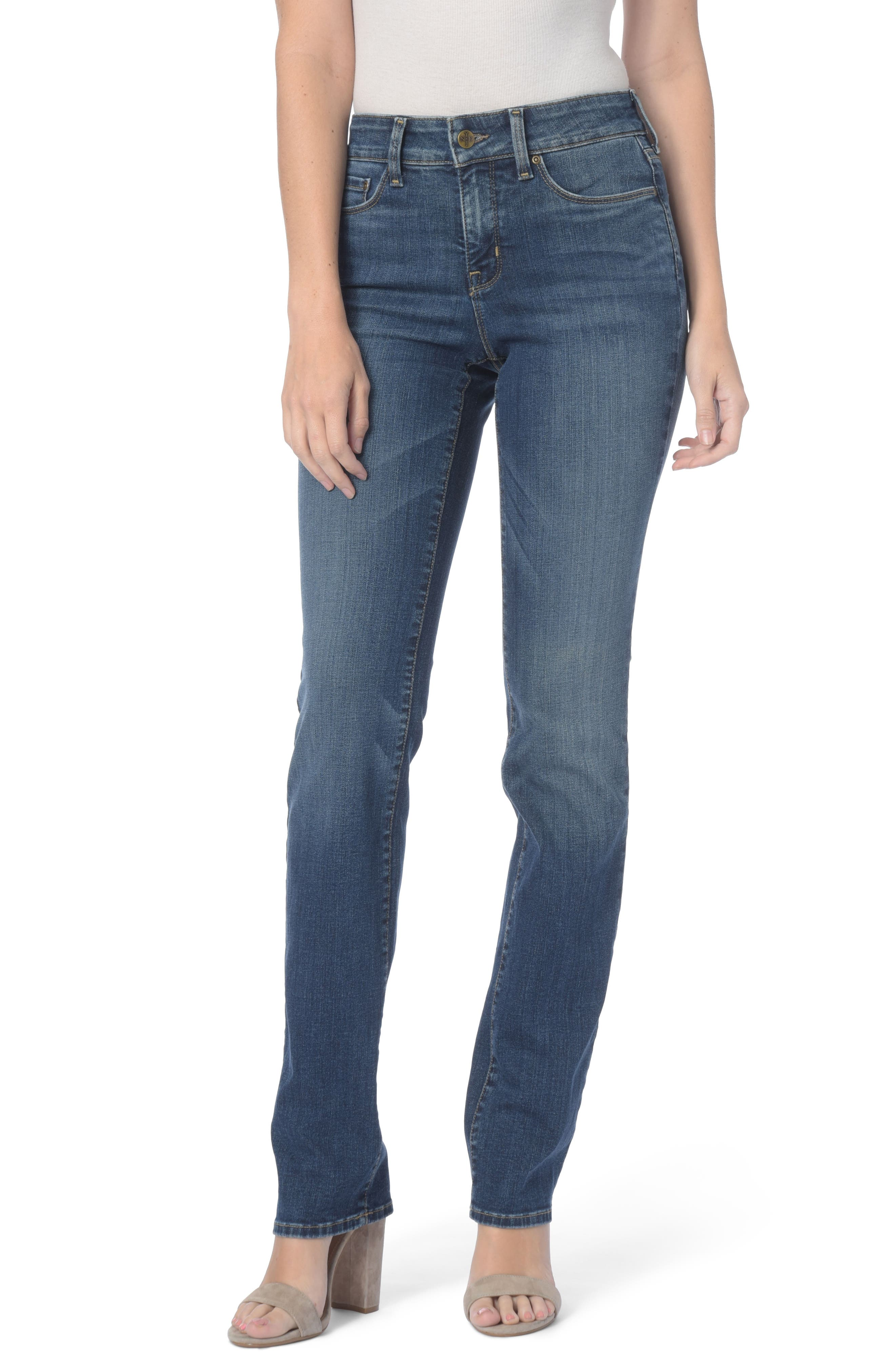 Marilyn Stretch Straight Leg Jeans,                             Main thumbnail 1, color,                             411