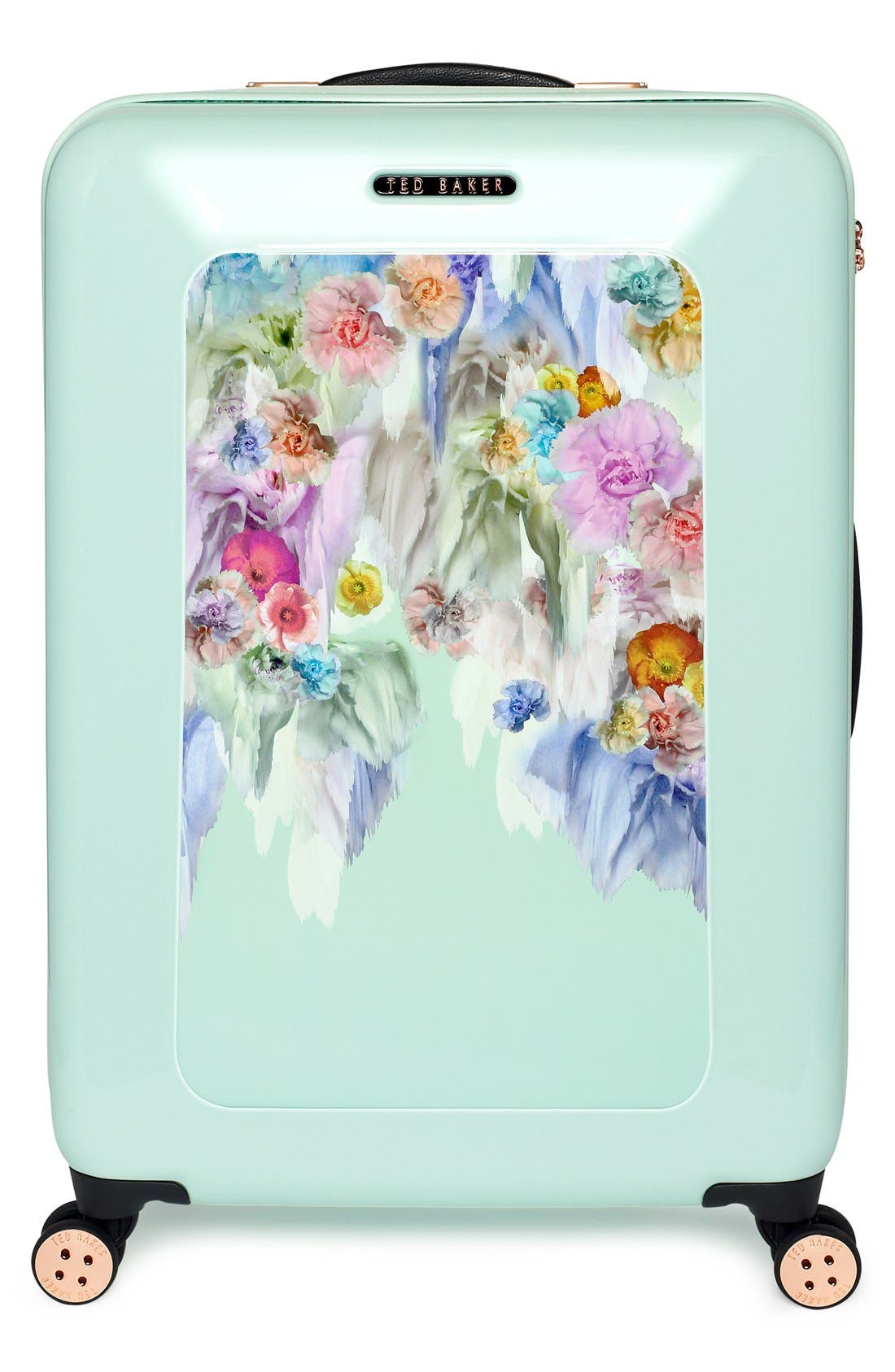 'Medium Sugar Sweet Florals' Hard Shell Suitcase,                             Alternate thumbnail 4, color,                             440