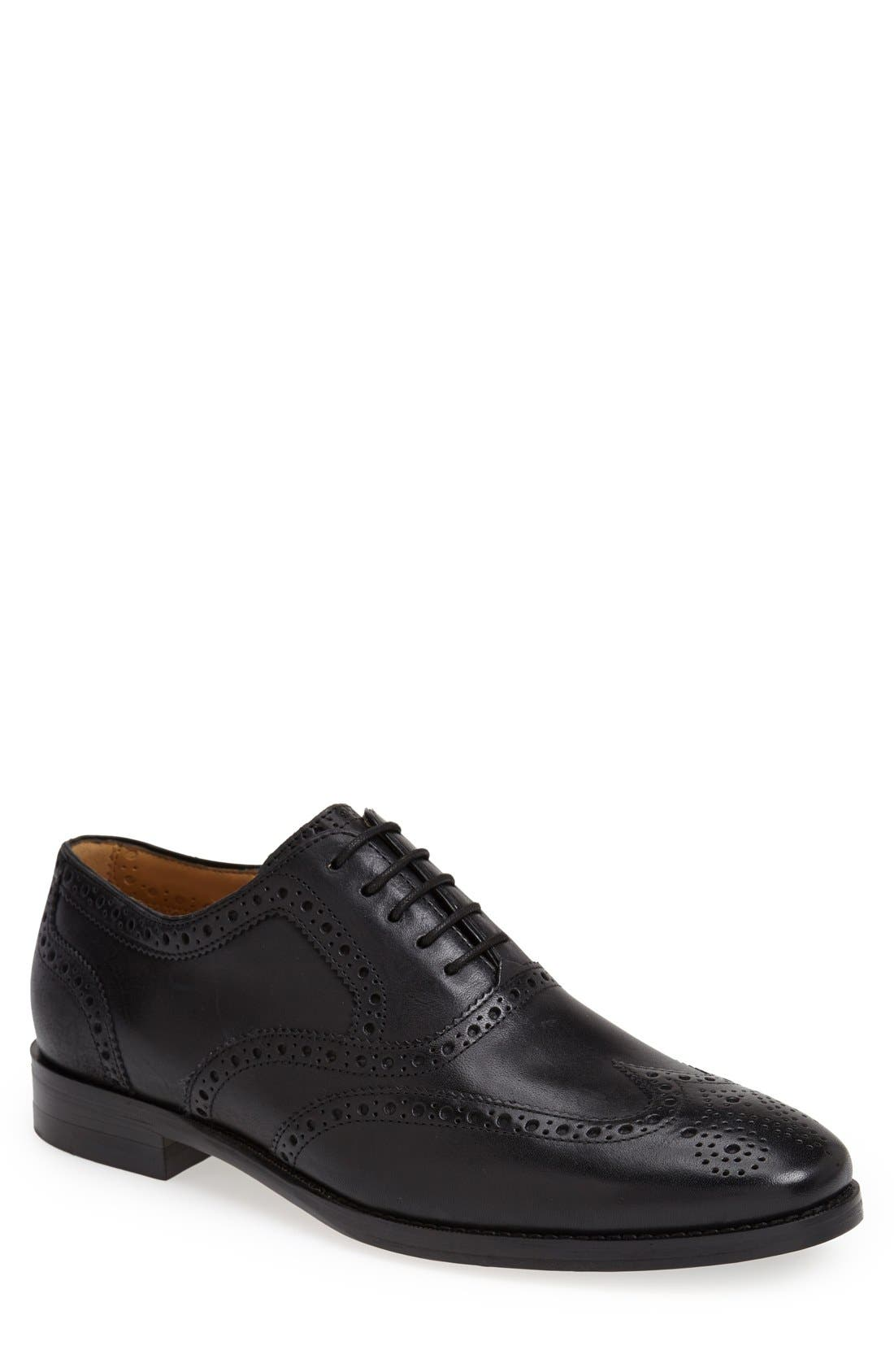 'Cambridge' Wingtip,                             Main thumbnail 1, color,                             BLACK