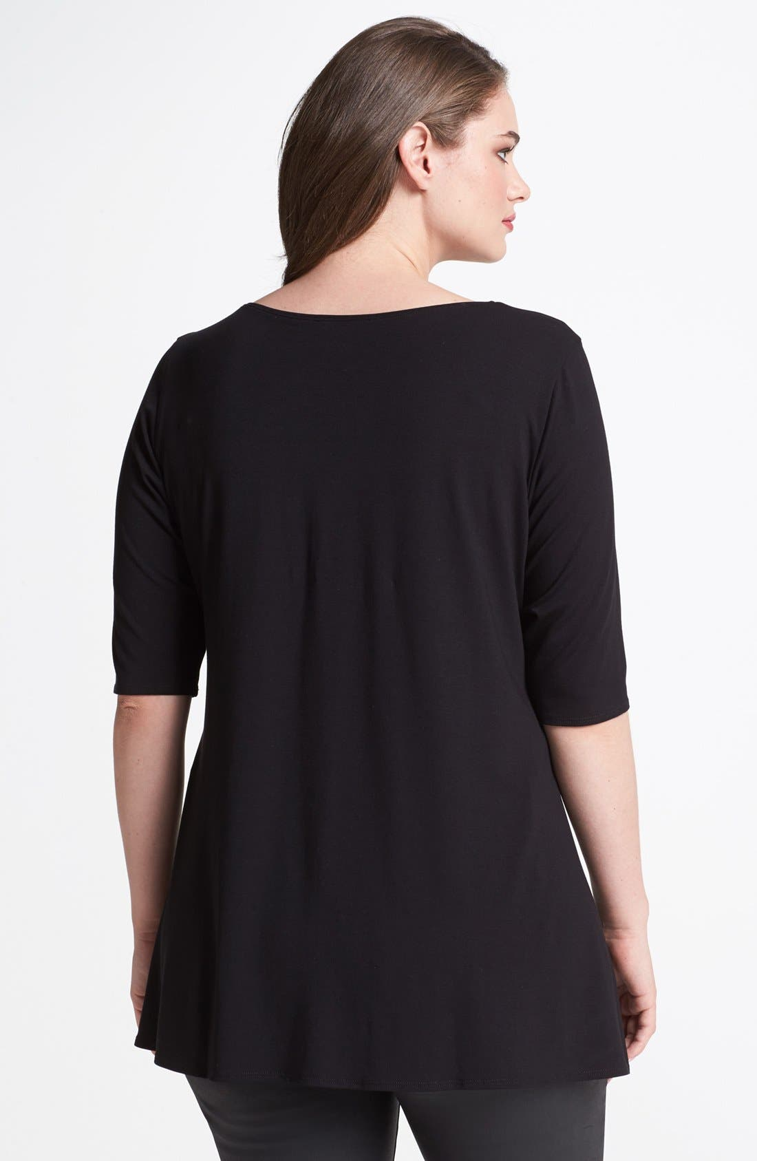 Scoop Neck Jersey Tunic,                             Alternate thumbnail 8, color,                             001
