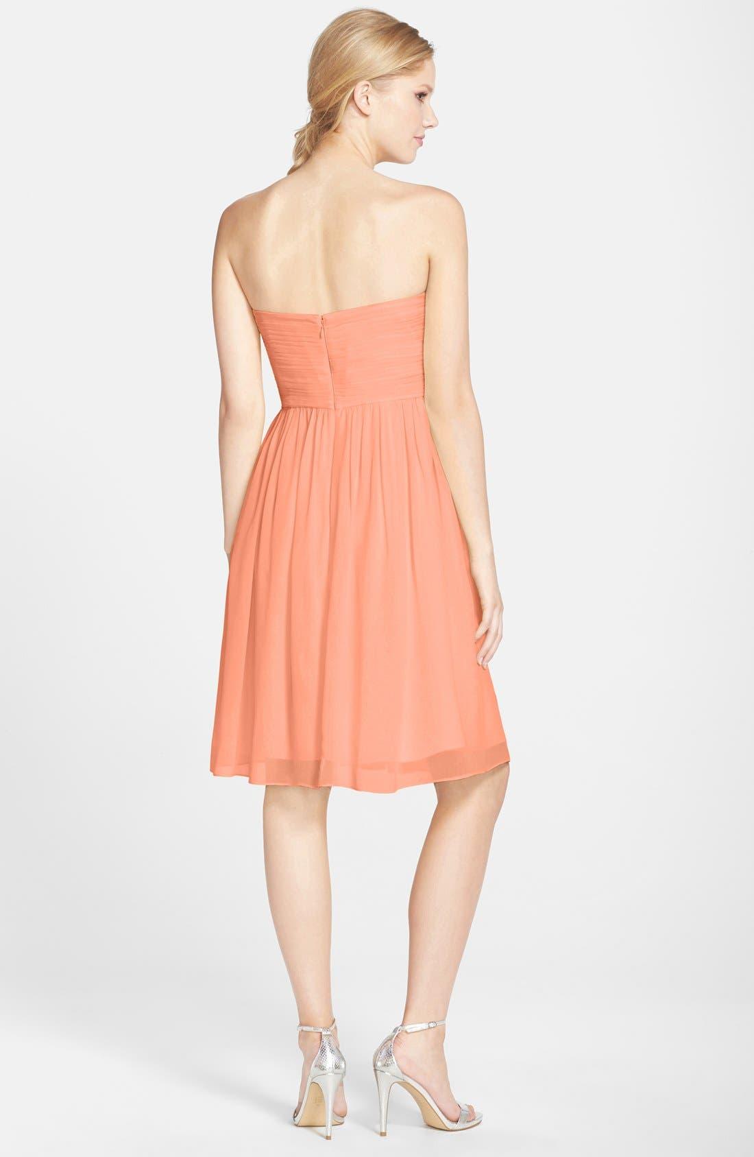 'Morgan' Strapless Silk Chiffon Dress,                             Alternate thumbnail 64, color,