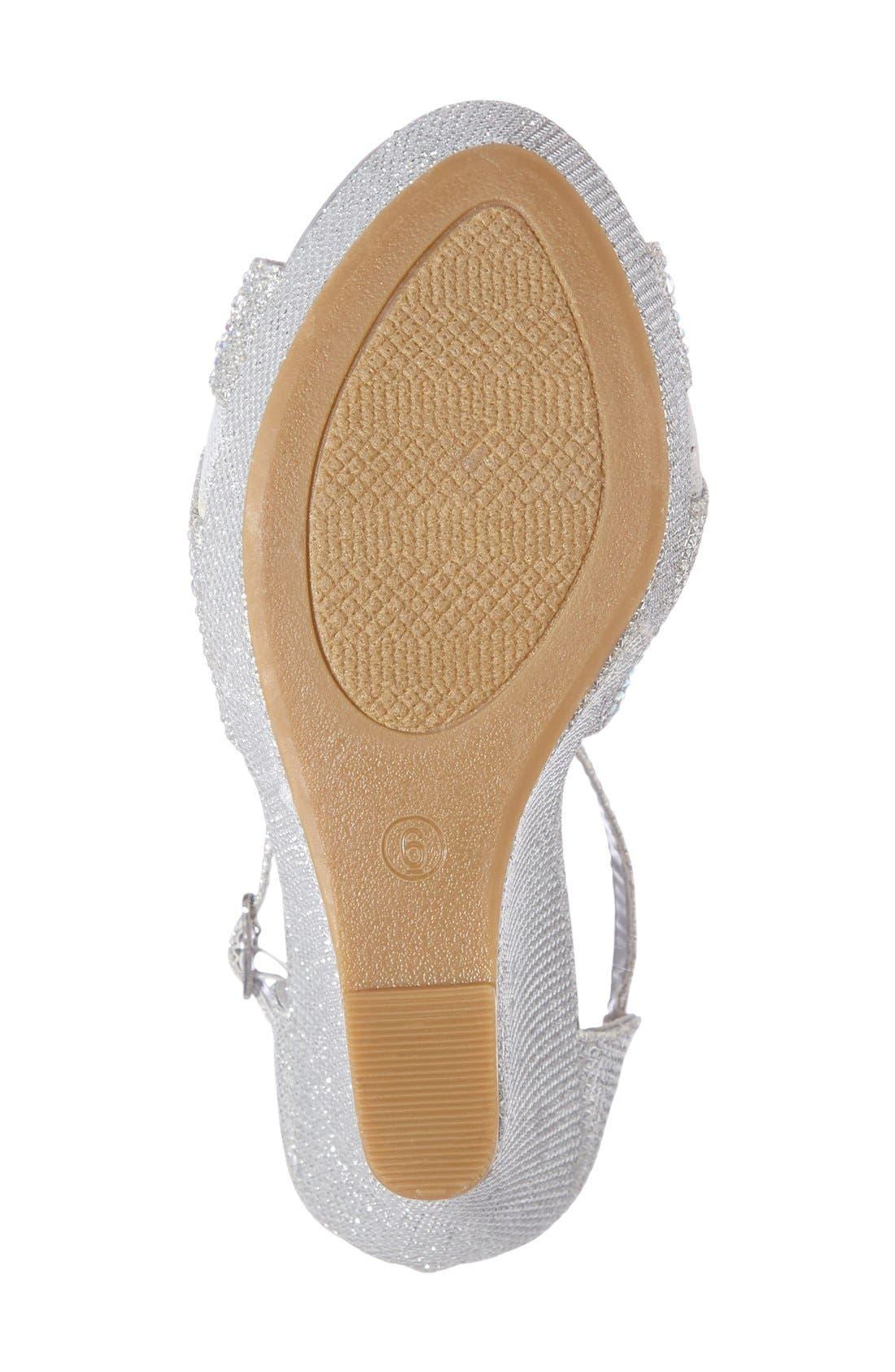 Ness Crystal Embellished Wedge Sandal,                             Alternate thumbnail 5, color,