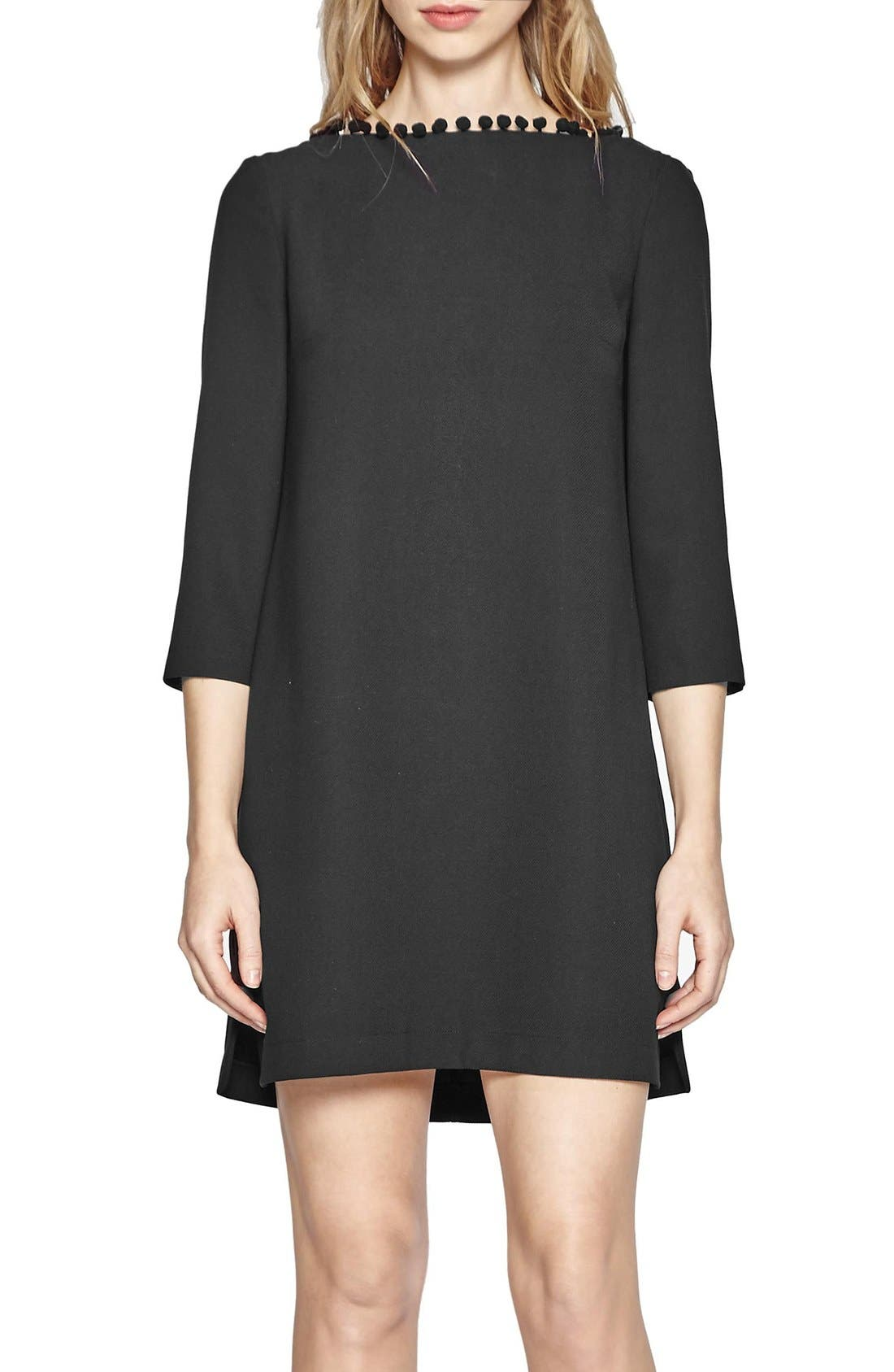 FRENCH CONNECTION Arrow Dress, Main, color, 001