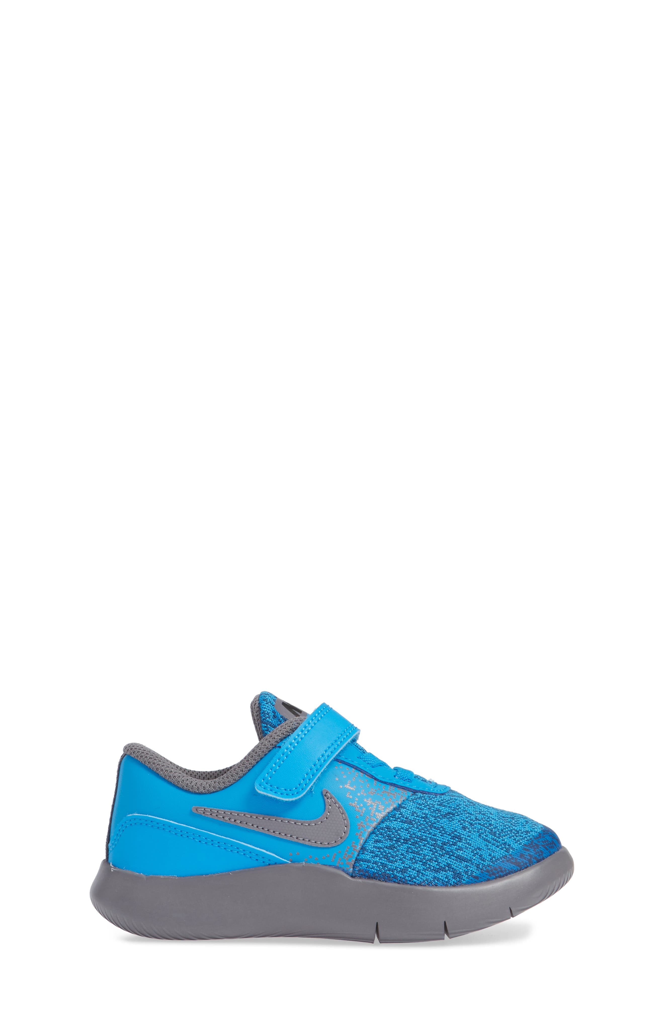 Flex Contact Running Shoe,                             Alternate thumbnail 3, color,                             BLUE HERO/ GUNSMOKE/ GREEN