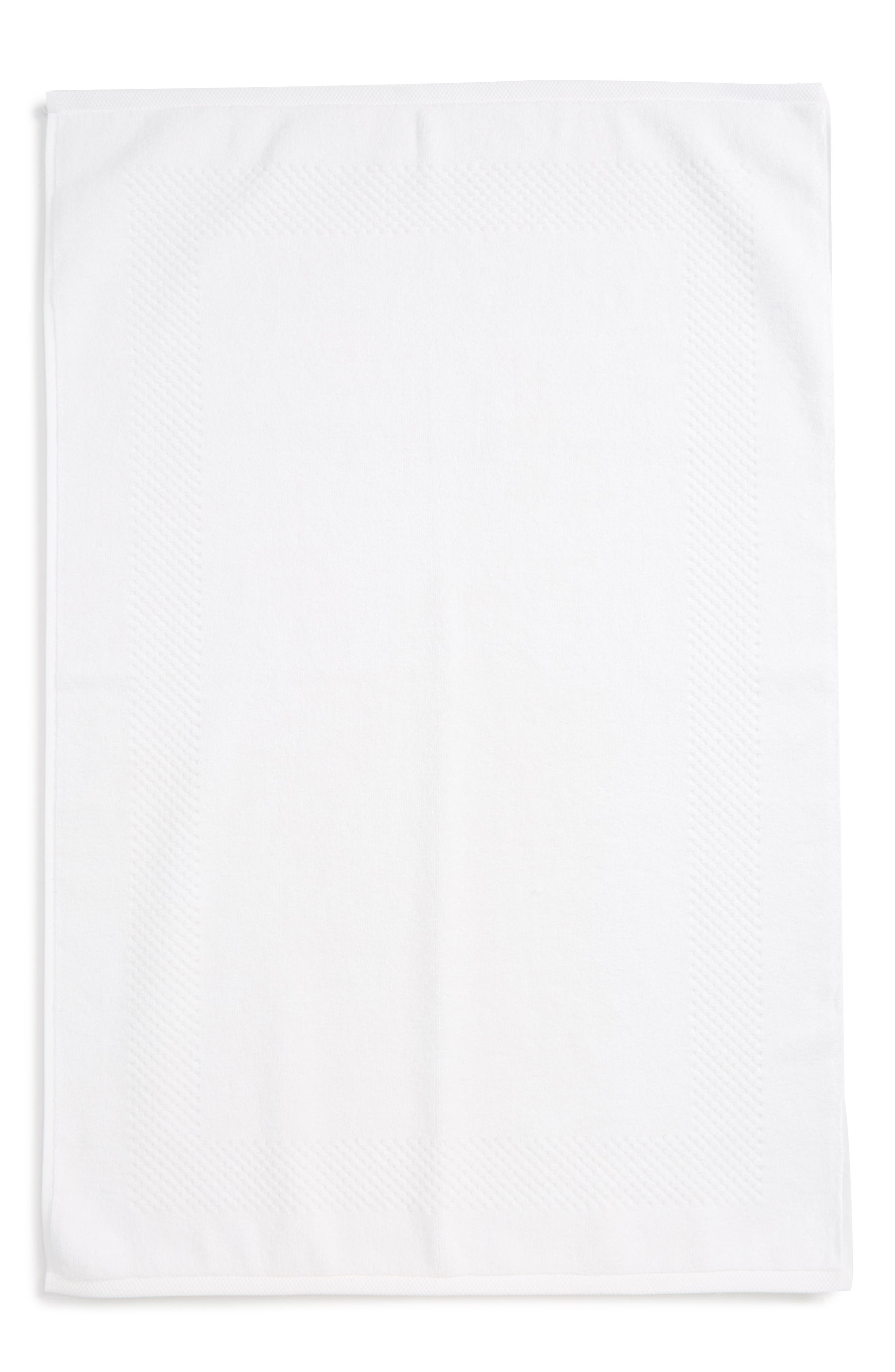 Lotus Bath Mat,                         Main,                         color, WHITE