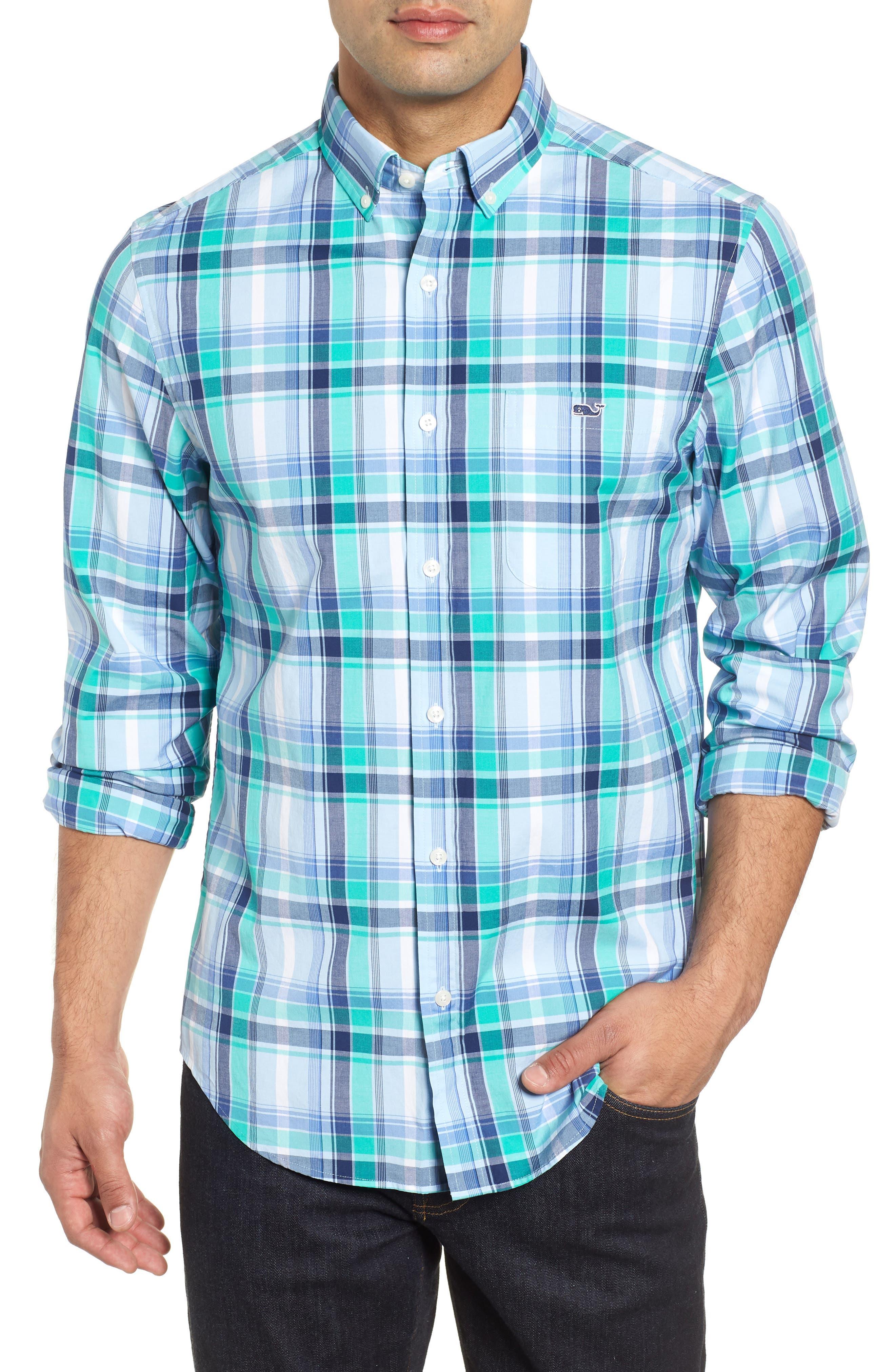 Boathouse Slim Fit Plaid Tucker Sport Shirt,                         Main,                         color, 386