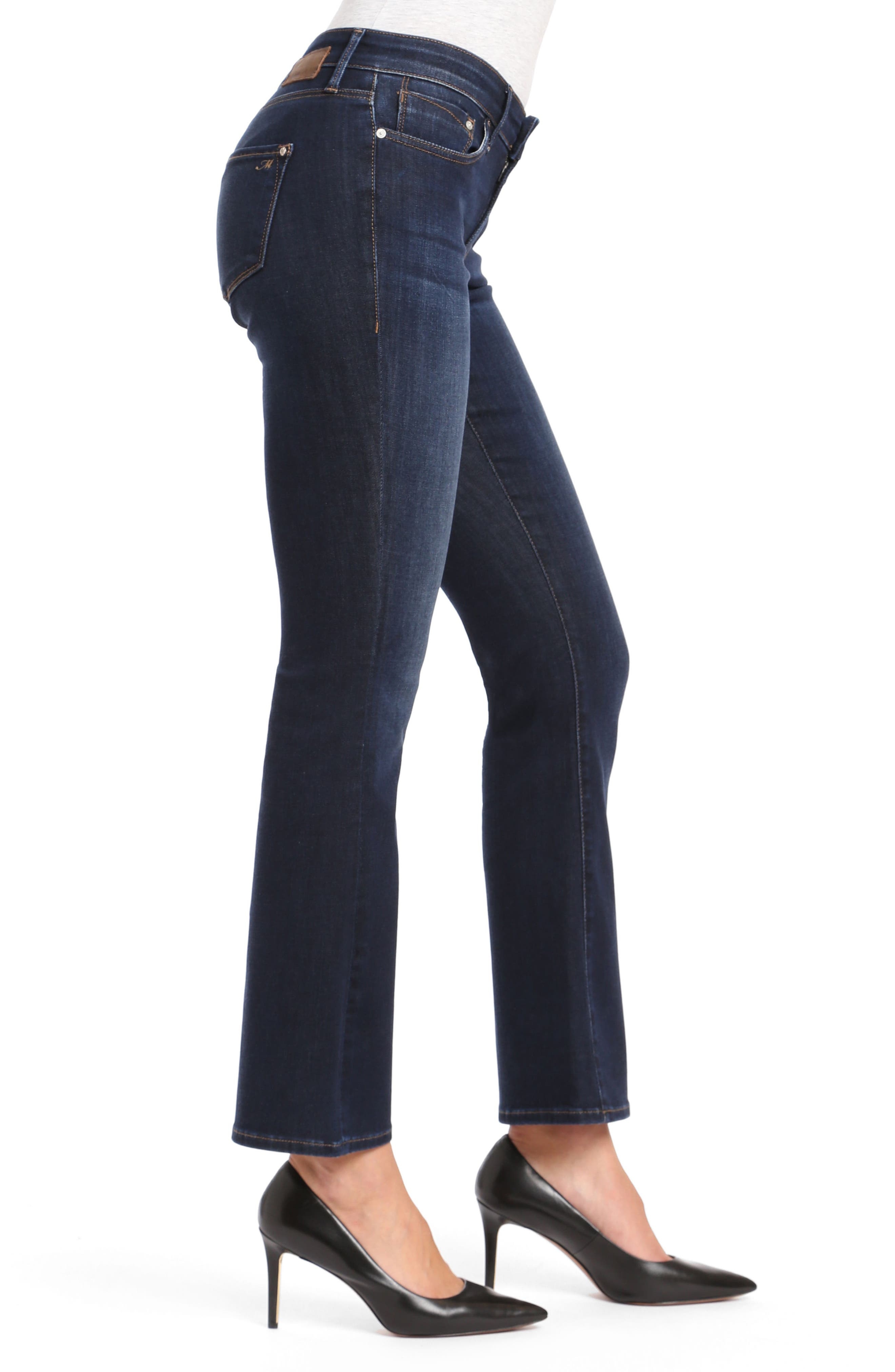Molly Classic Bootcuts Jeans,                             Alternate thumbnail 3, color,                             DEEP SUPER SOFT