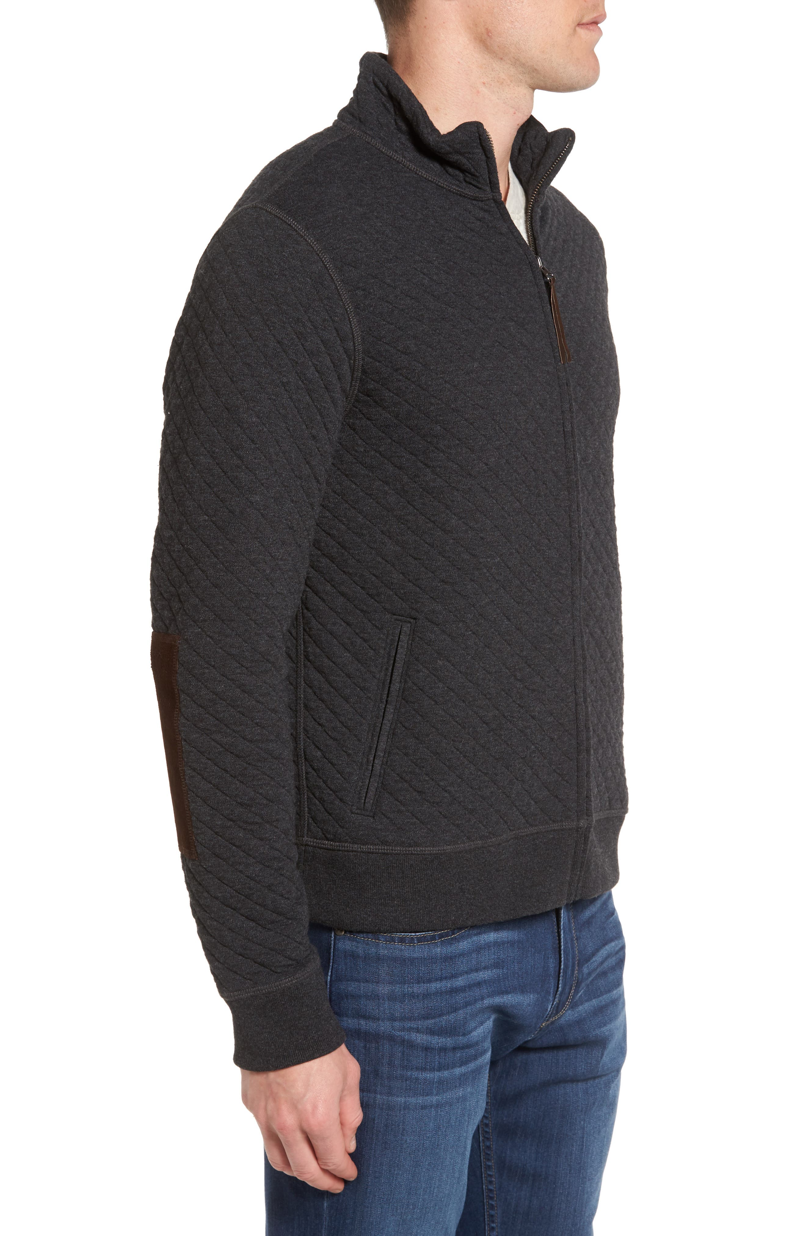 Diamond Quilted Jacket,                             Alternate thumbnail 3, color,                             020