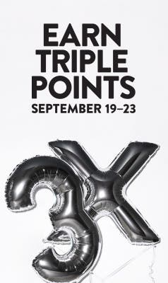 Nordstrom Rewards. Earn Triple Points September 19-23.