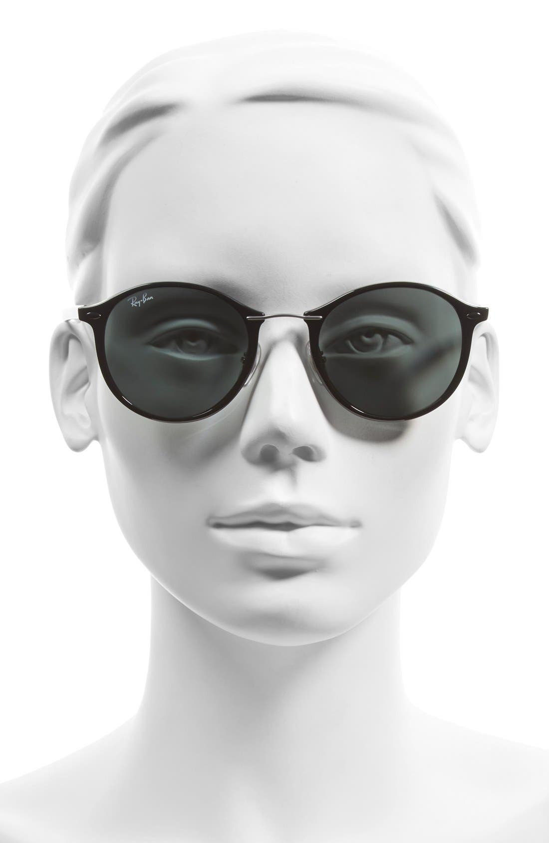 49mm Round Sunglasses,                             Alternate thumbnail 2, color,                             001