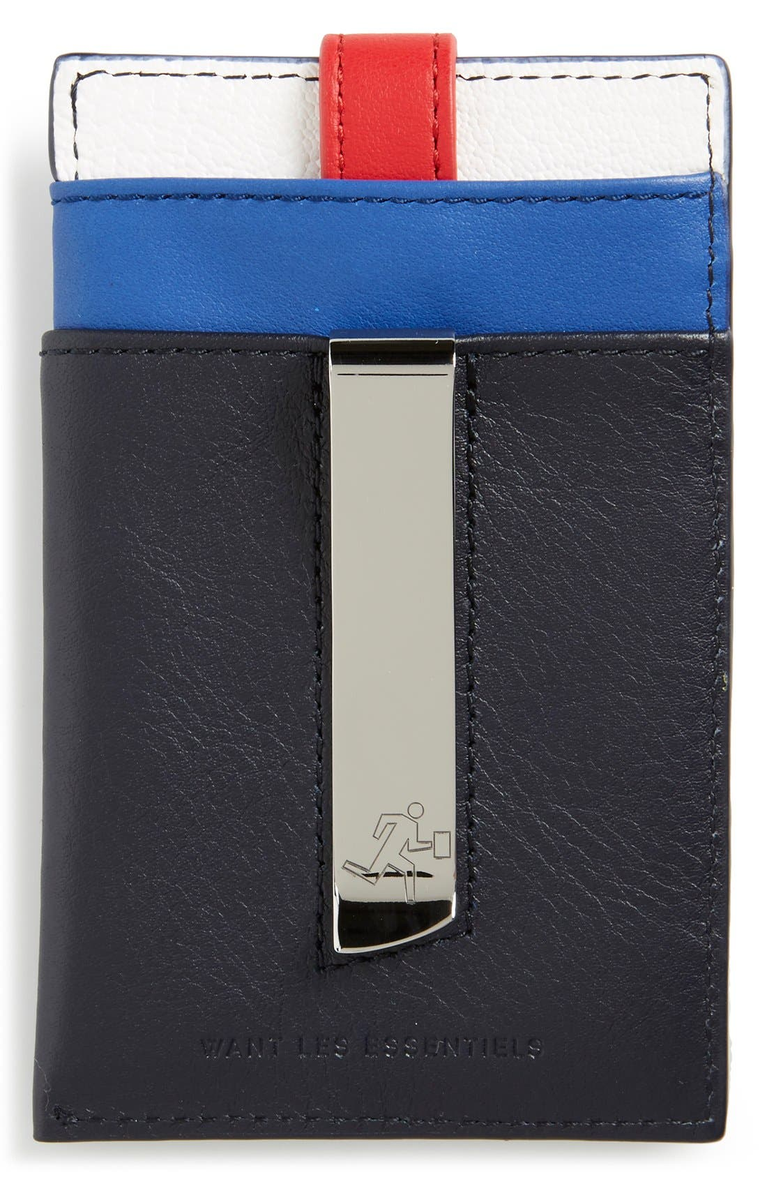 'Kennedy' Leather Money Clip Card Case,                             Alternate thumbnail 10, color,
