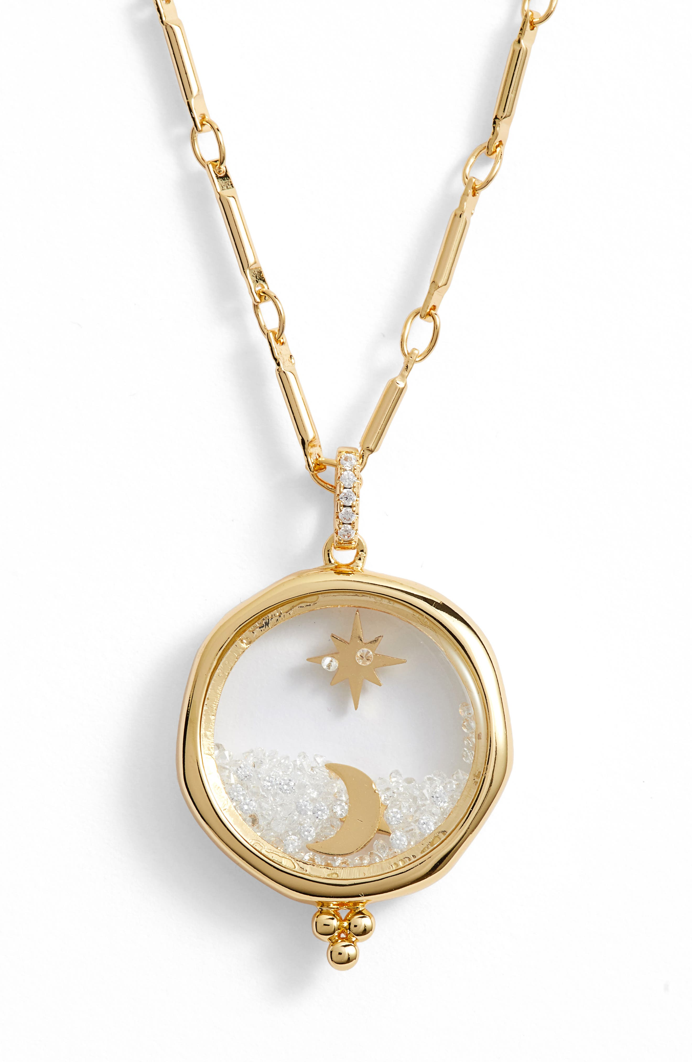 LULU DK X Kristina Schulman Universe Shaker Pendant Necklace in Gold