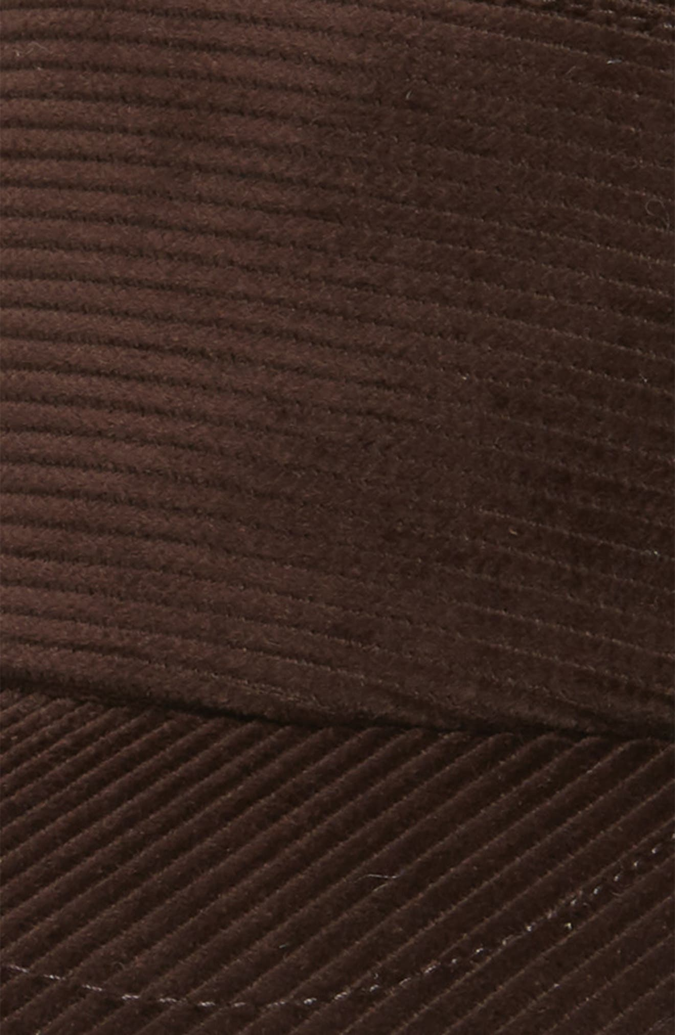 Corduroy Ball Cap,                             Alternate thumbnail 3, color,                             CHOCOLATE