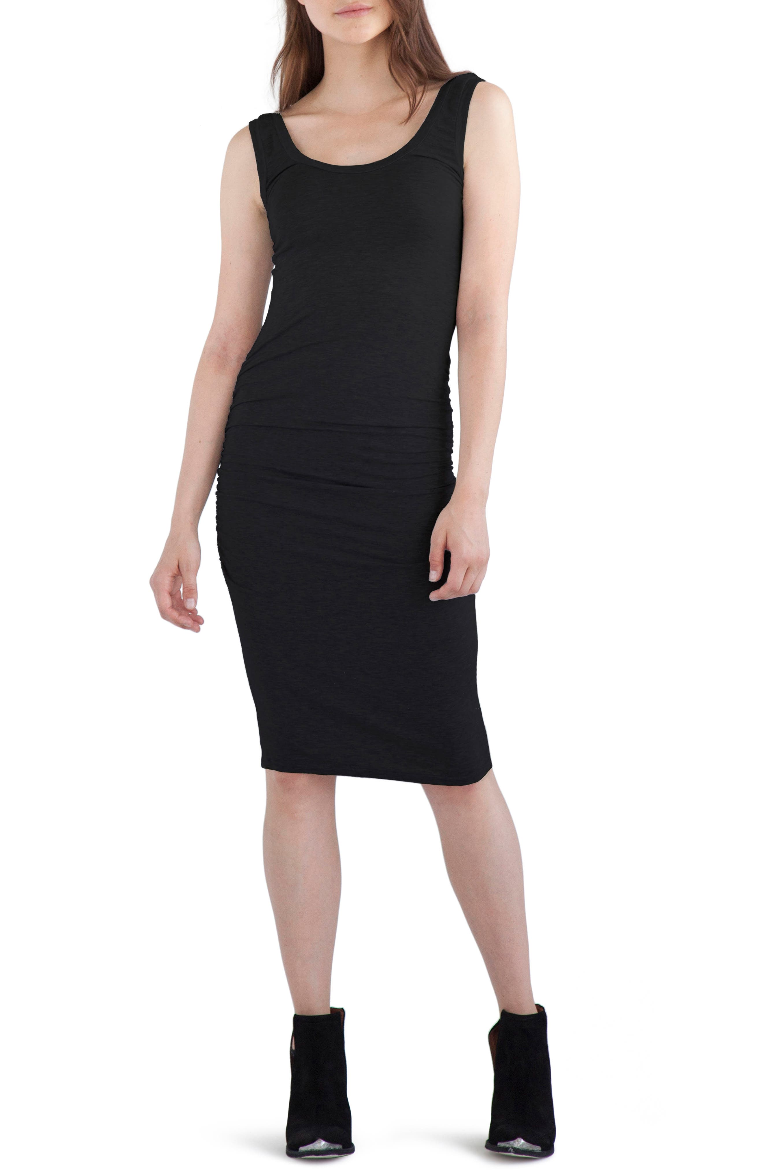 'Frankie' Ruched Tank Dress,                         Main,                         color, 001