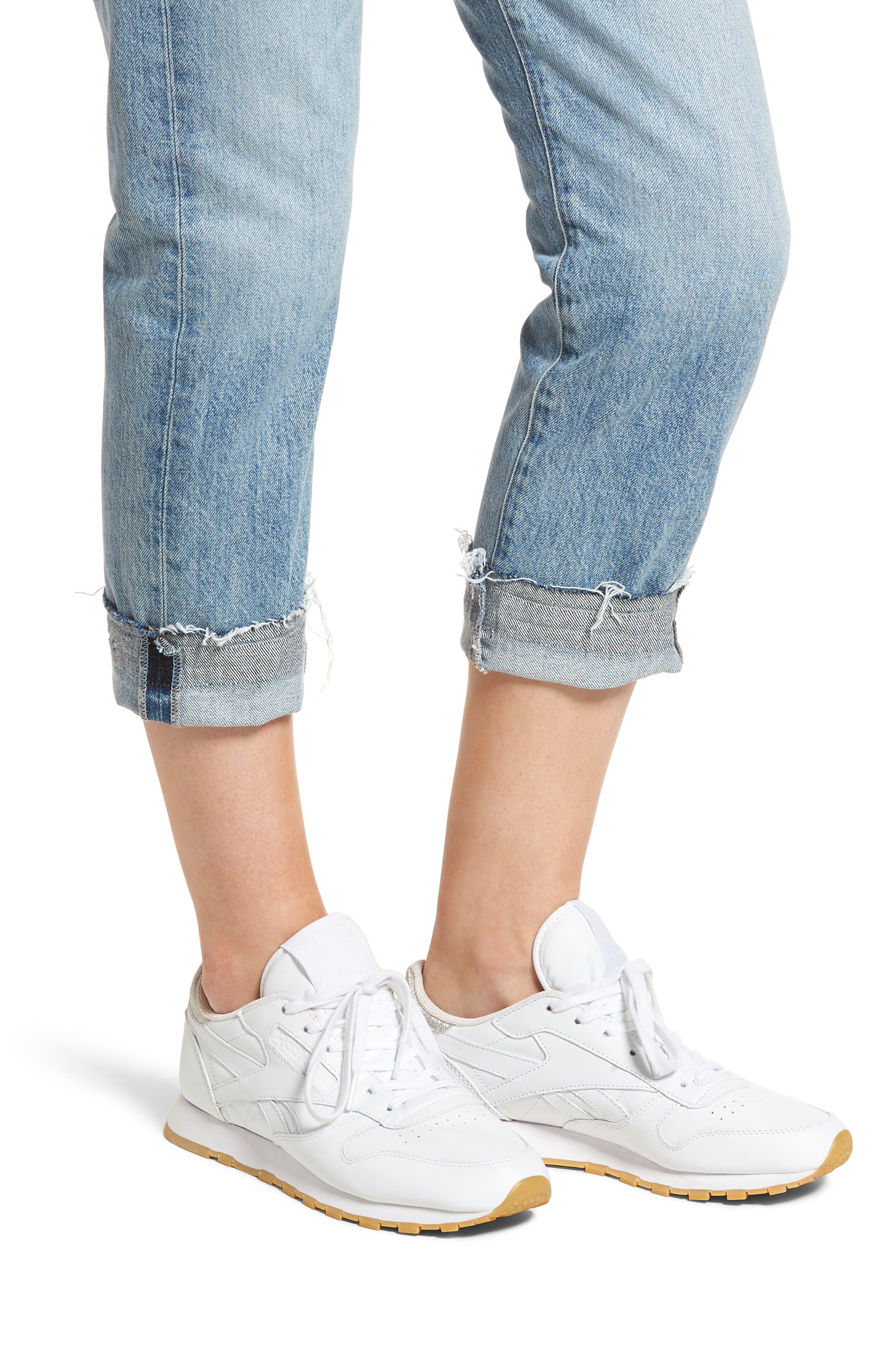 Emerson Crop Slim Fit Boyfriend Jeans,                             Alternate thumbnail 4, color,