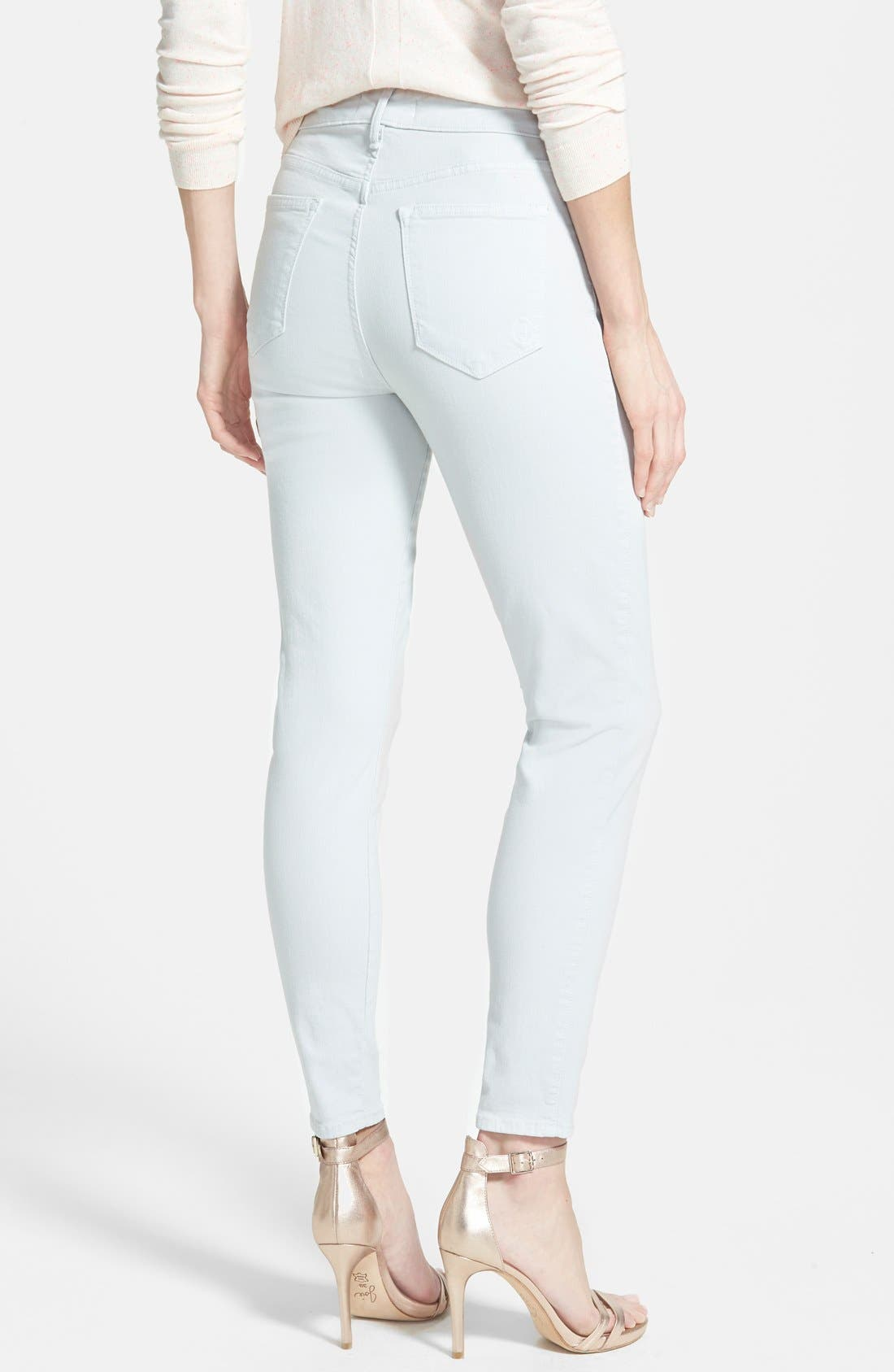 'Wisdom' Colored Stretch Ankle Skinny Jeans,                             Alternate thumbnail 2, color,                             098