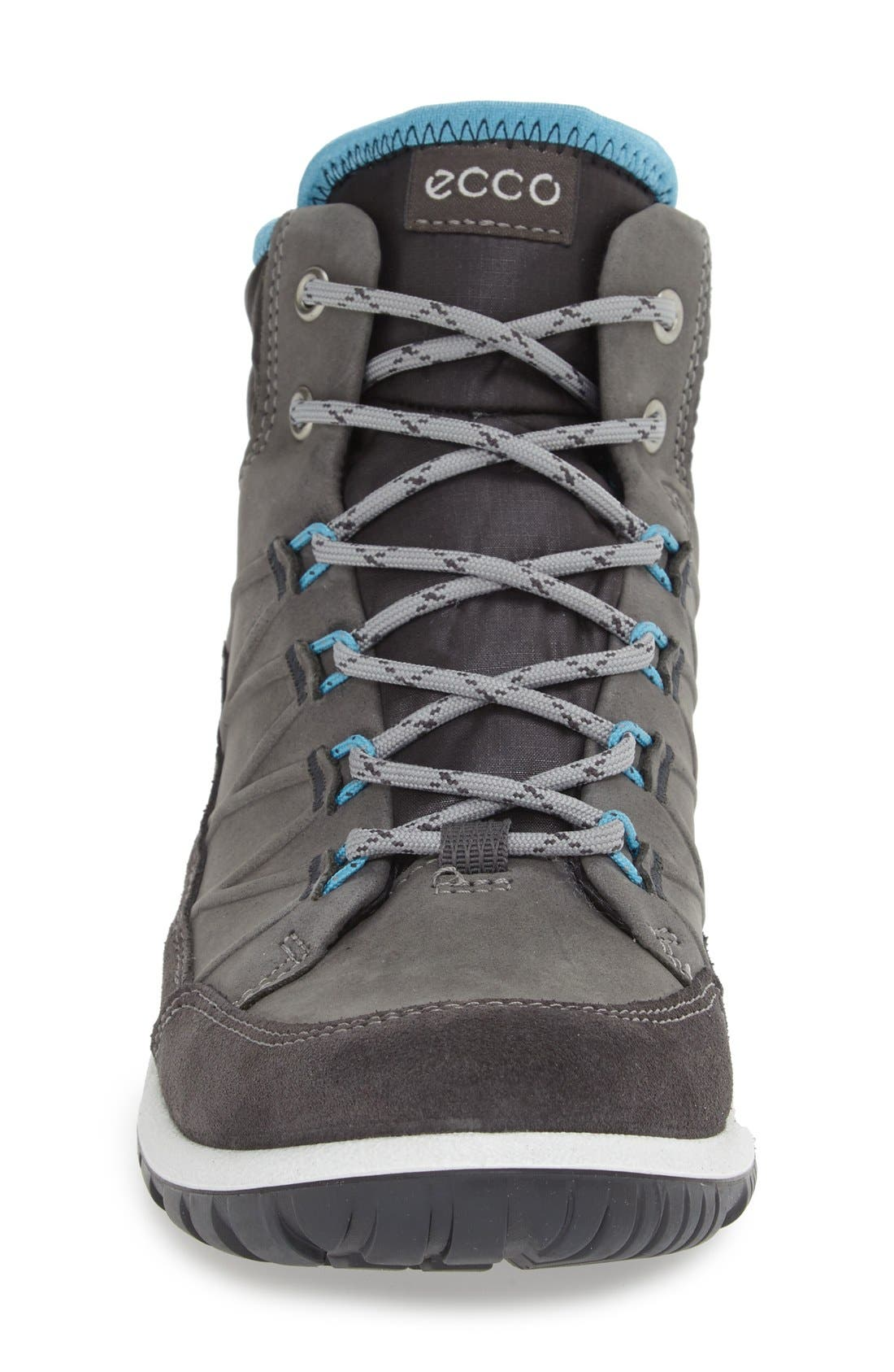ECCO,                             'Aspina GTX' Waterproof High Top Shoe,                             Alternate thumbnail 4, color,                             MOONLESS OILED SUEDE
