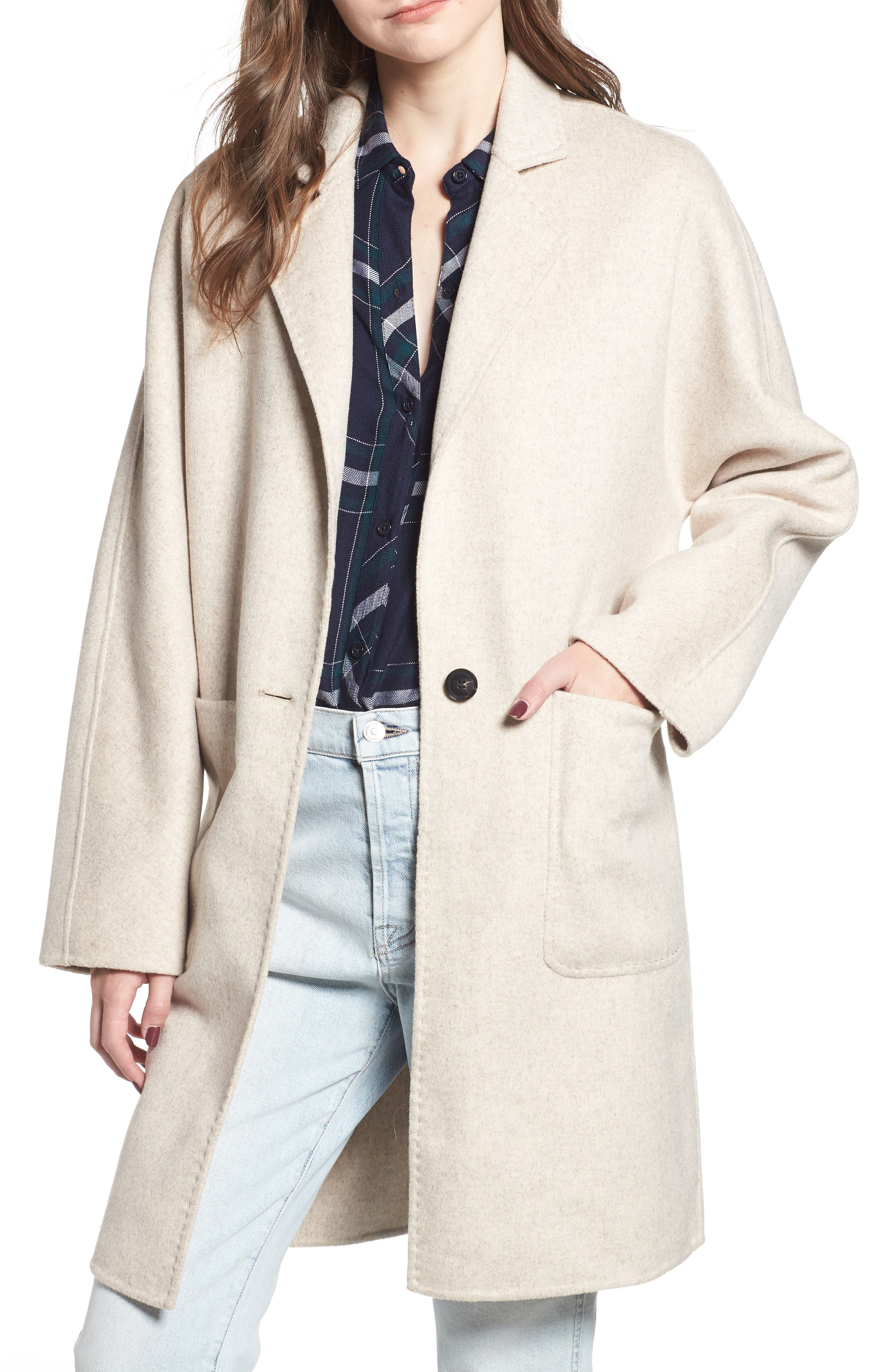 Everest Wool Blend Coat,                         Main,                         color, OATMEAL