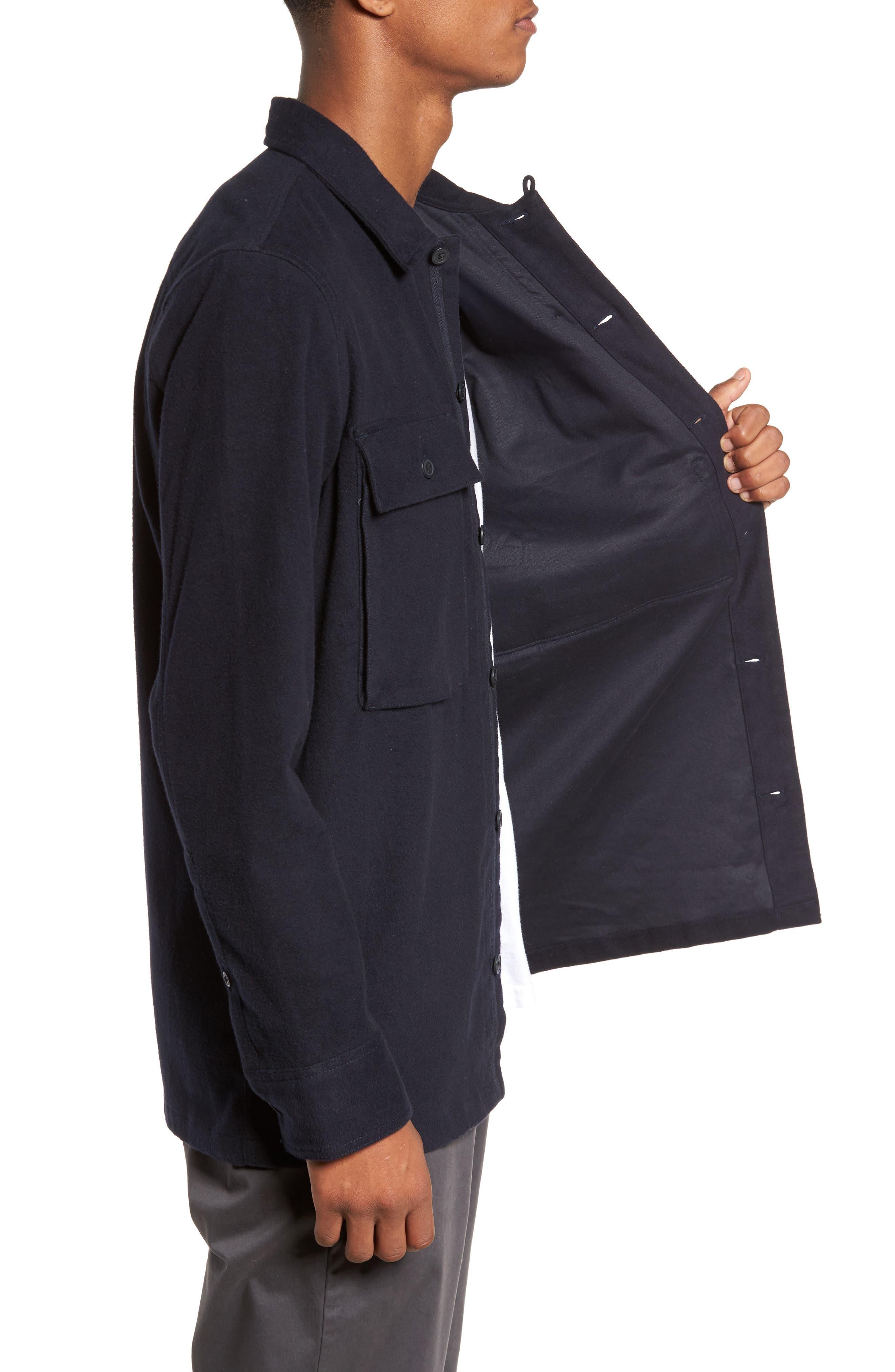 Flannel Shirt Jacket,                             Alternate thumbnail 3, color,