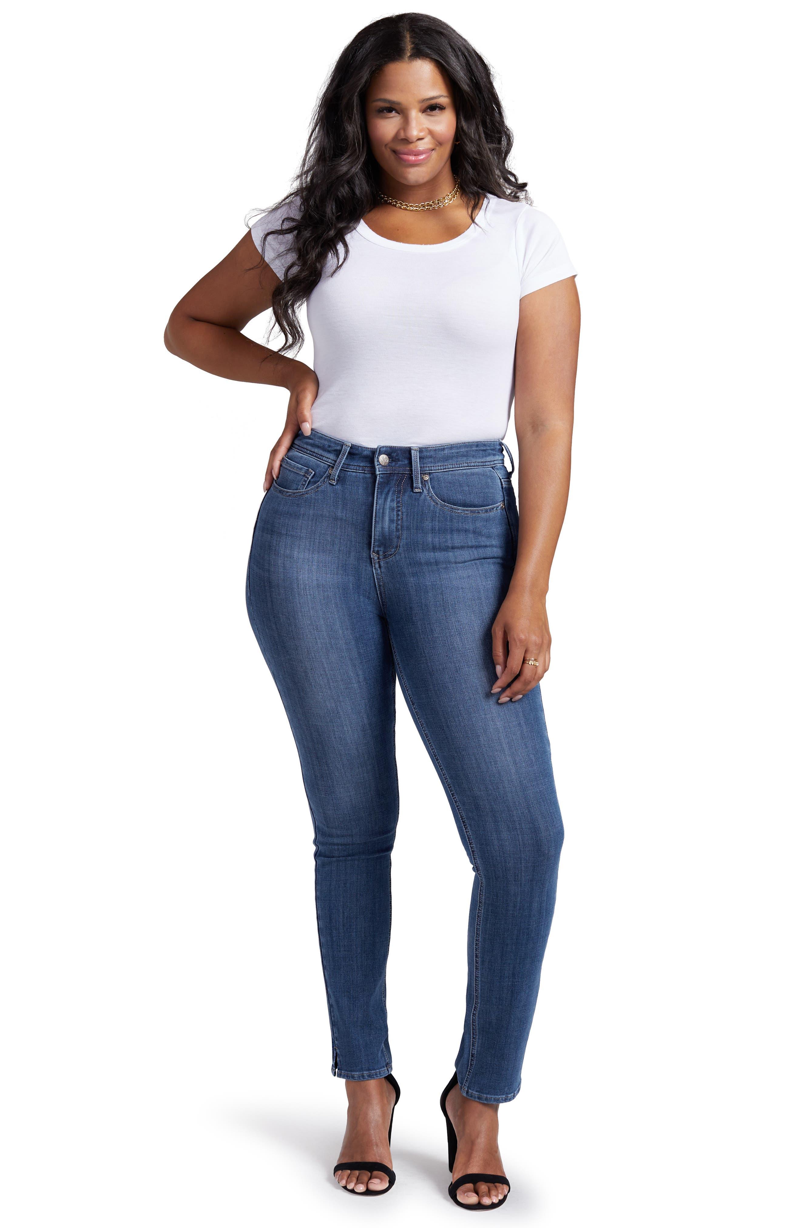 Slim Straight Leg Jeans,                             Alternate thumbnail 4, color,                             JACKSON