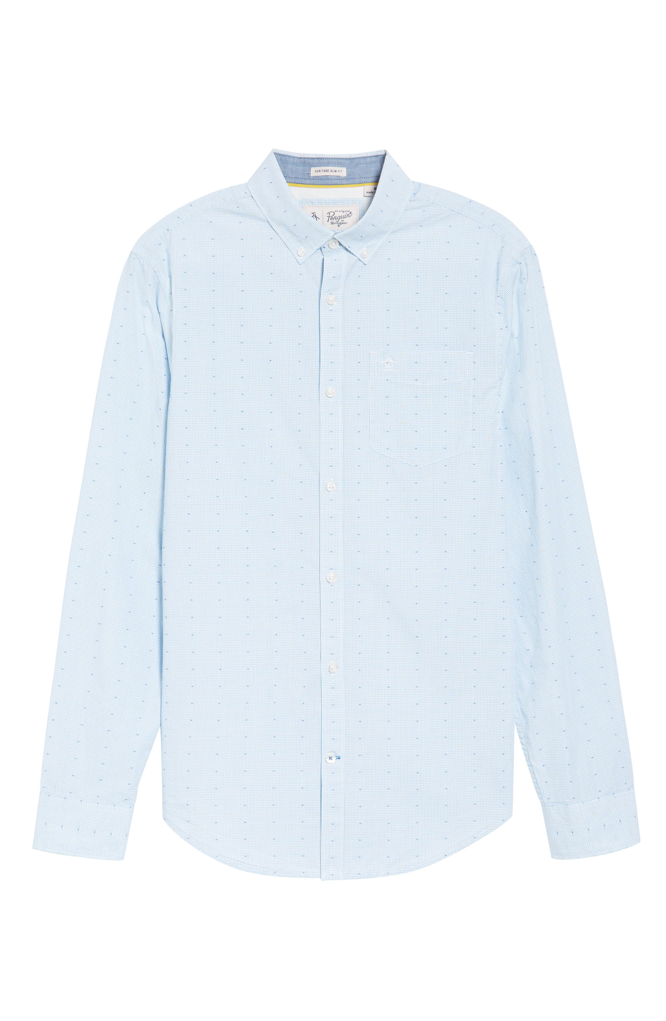 Clipped Dobby Woven Shirt,                             Alternate thumbnail 6, color,                             118