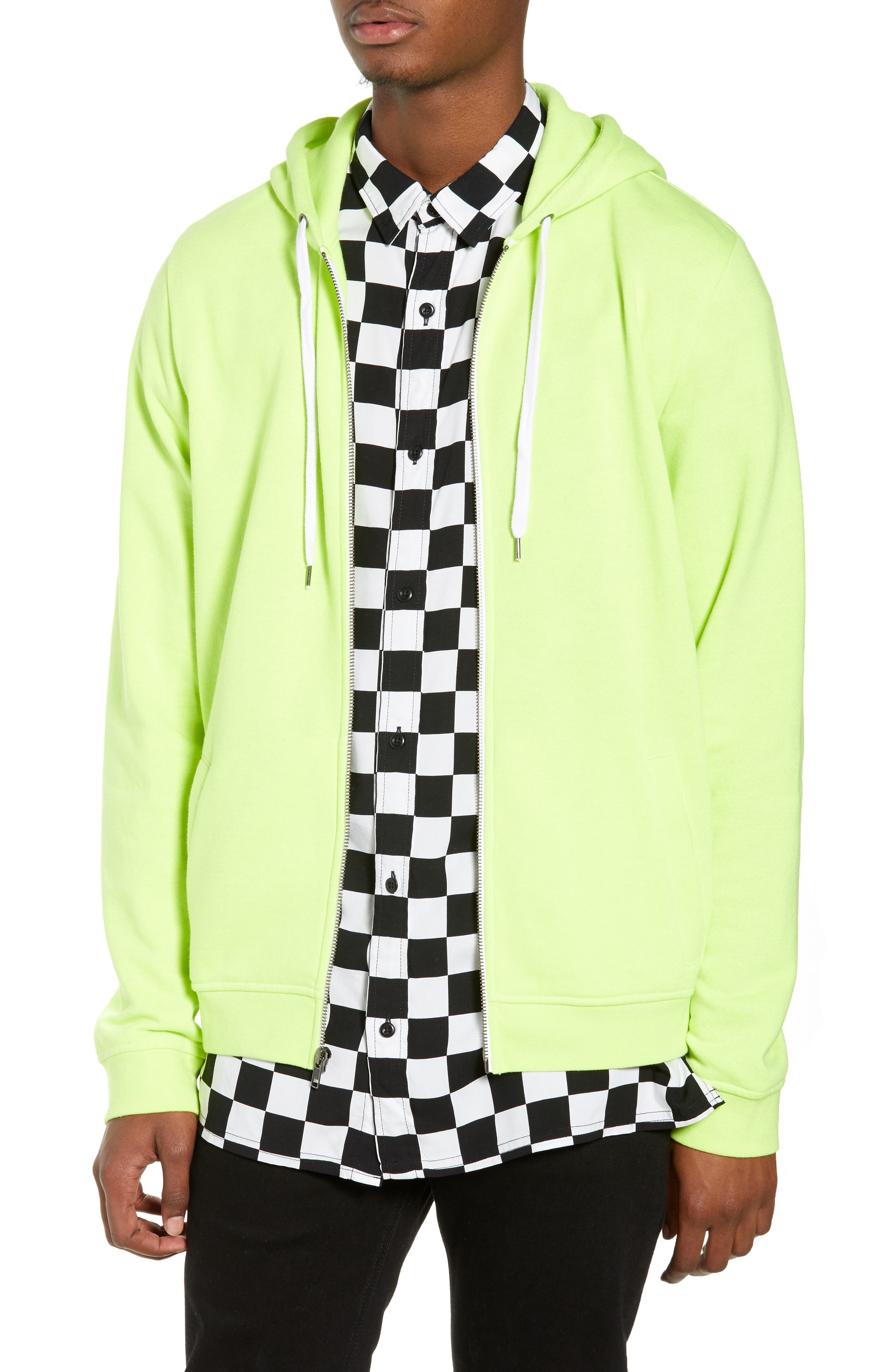 Full Zip Hoodie,                         Main,                         color, YELLOW ZONE