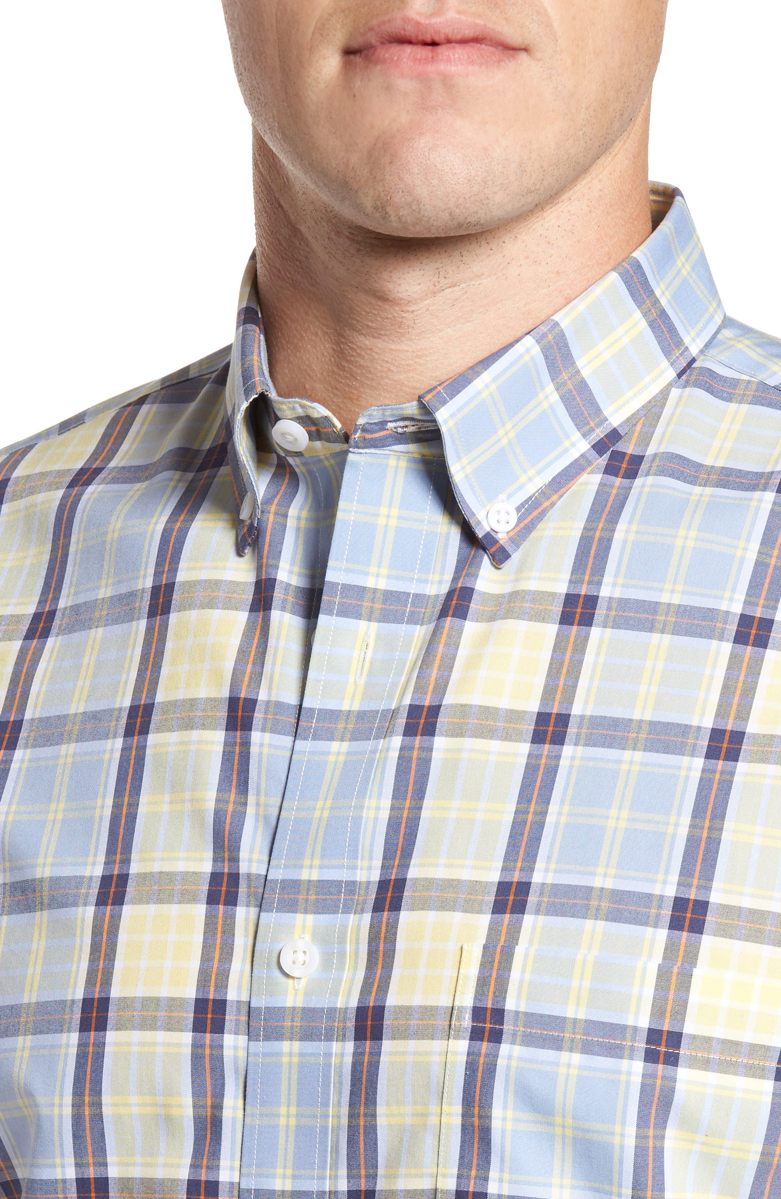 Smartcare<sup>™</sup> Regular Fit Plaid Sport Shirt,                             Alternate thumbnail 15, color,