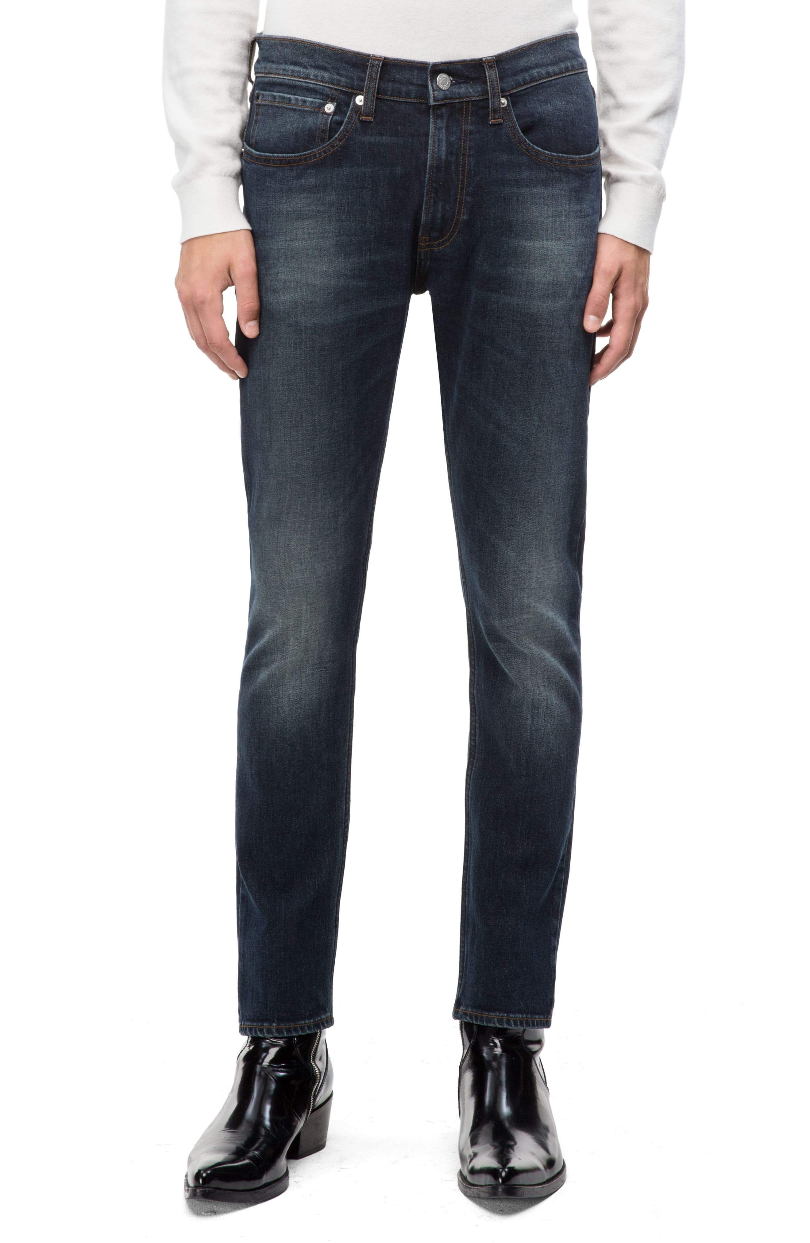 Skinny Slim Fit Jeans,                             Main thumbnail 1, color,                             PEDRO BLUE