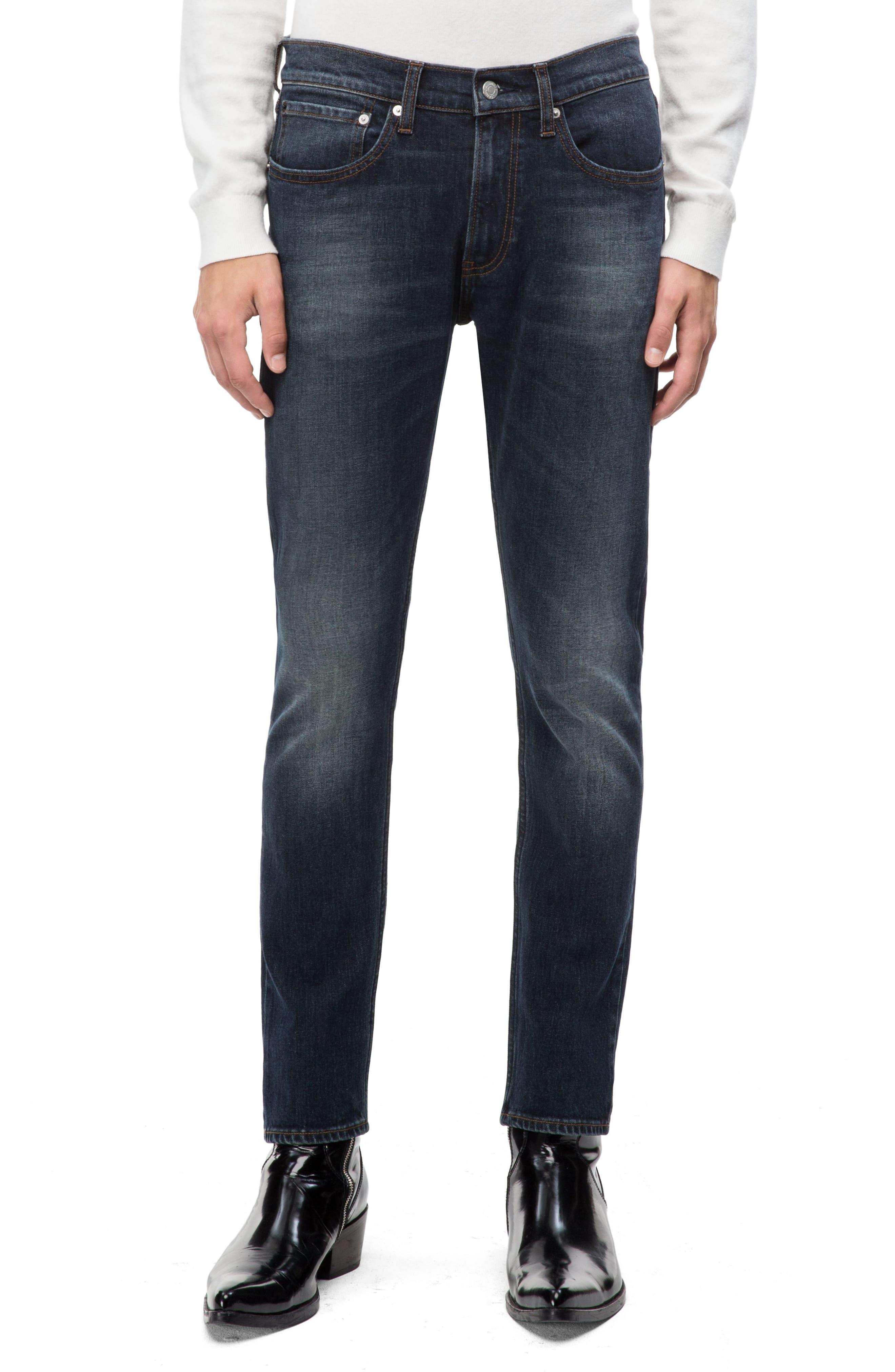 Skinny Slim Fit Jeans,                         Main,                         color, PEDRO BLUE