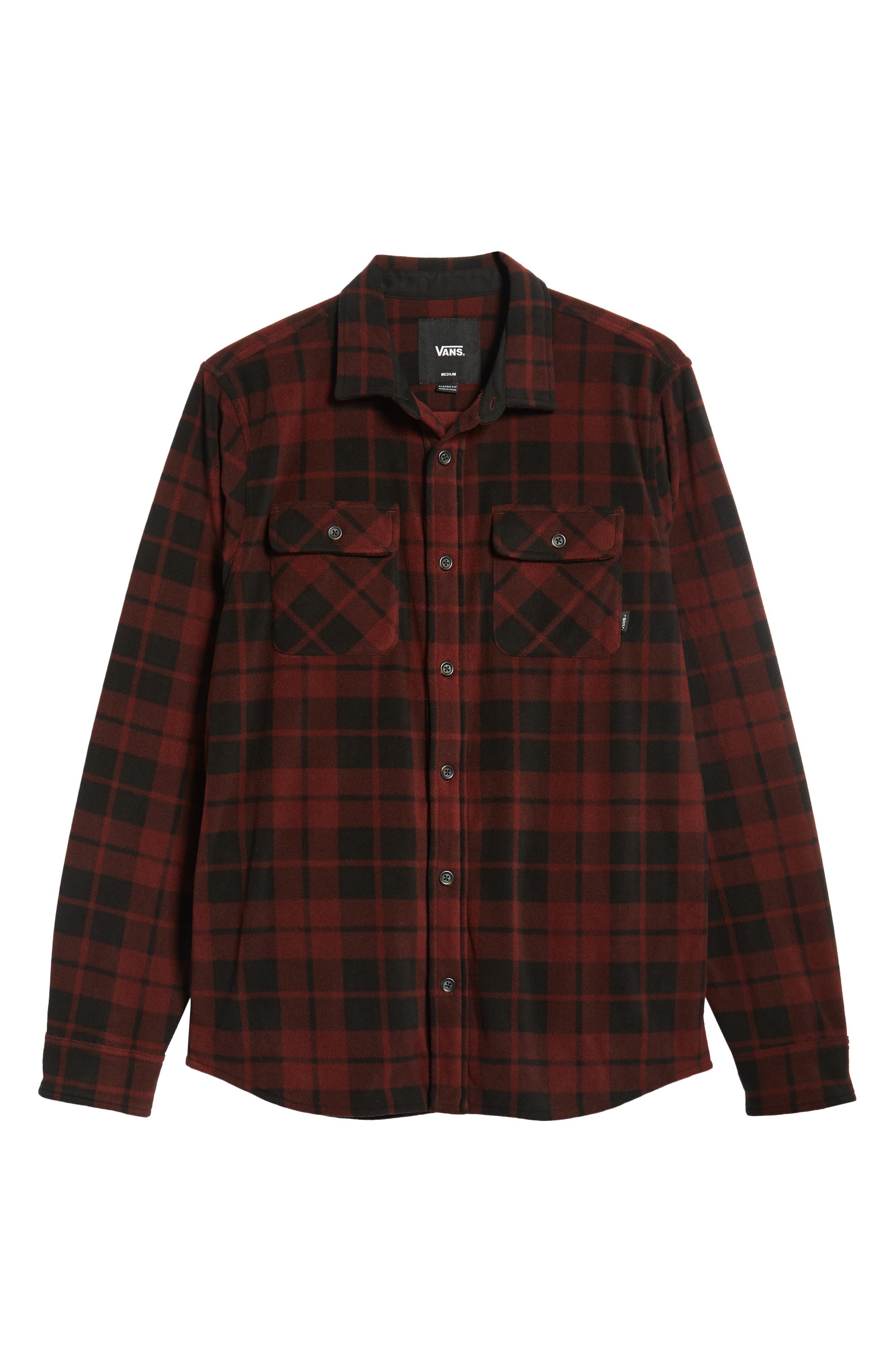 Hillcrest Fleece Shirt,                             Alternate thumbnail 5, color,                             930