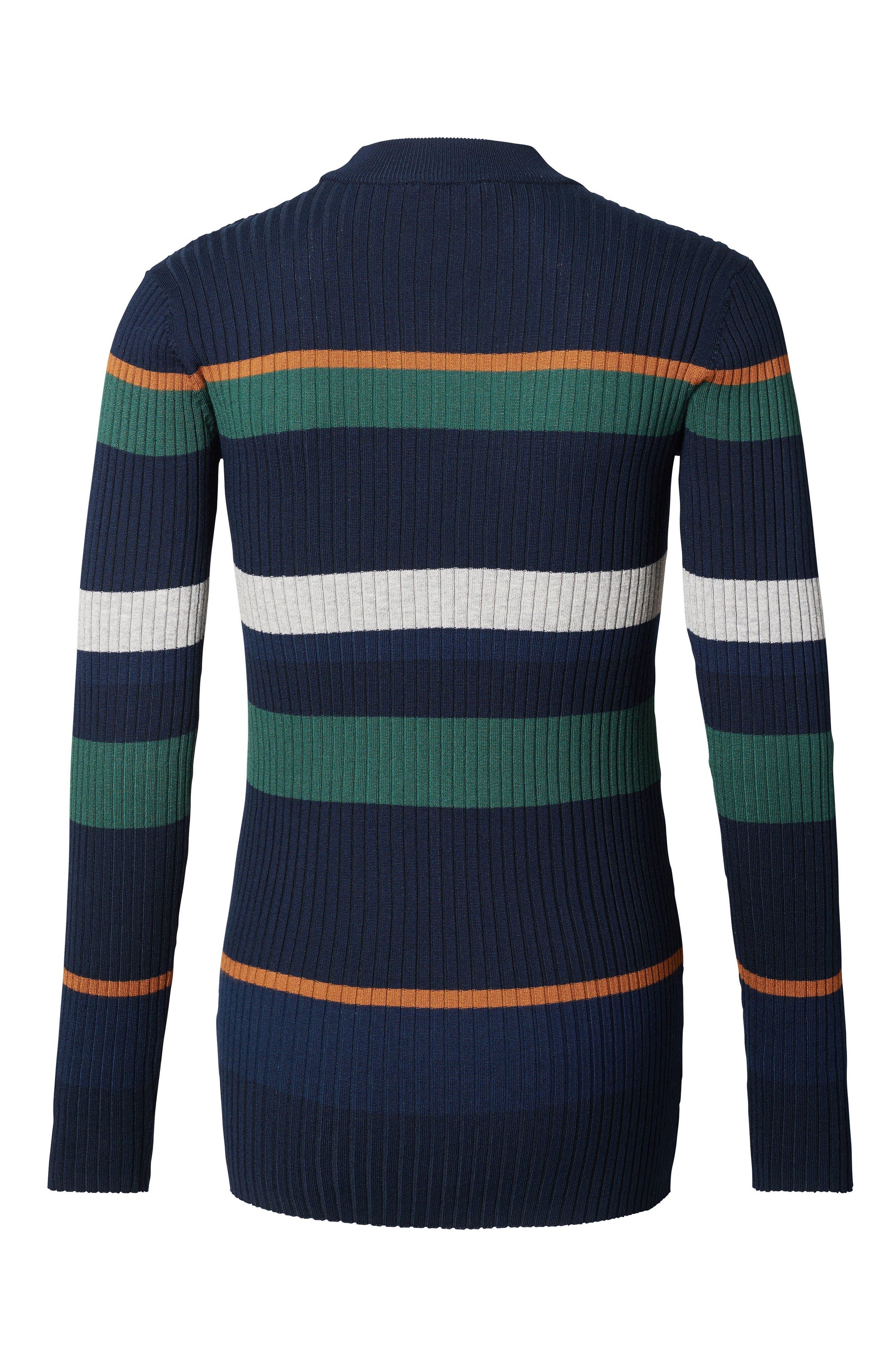 Georgia Stripe Maternity Sweater,                             Main thumbnail 1, color,                             NAVY