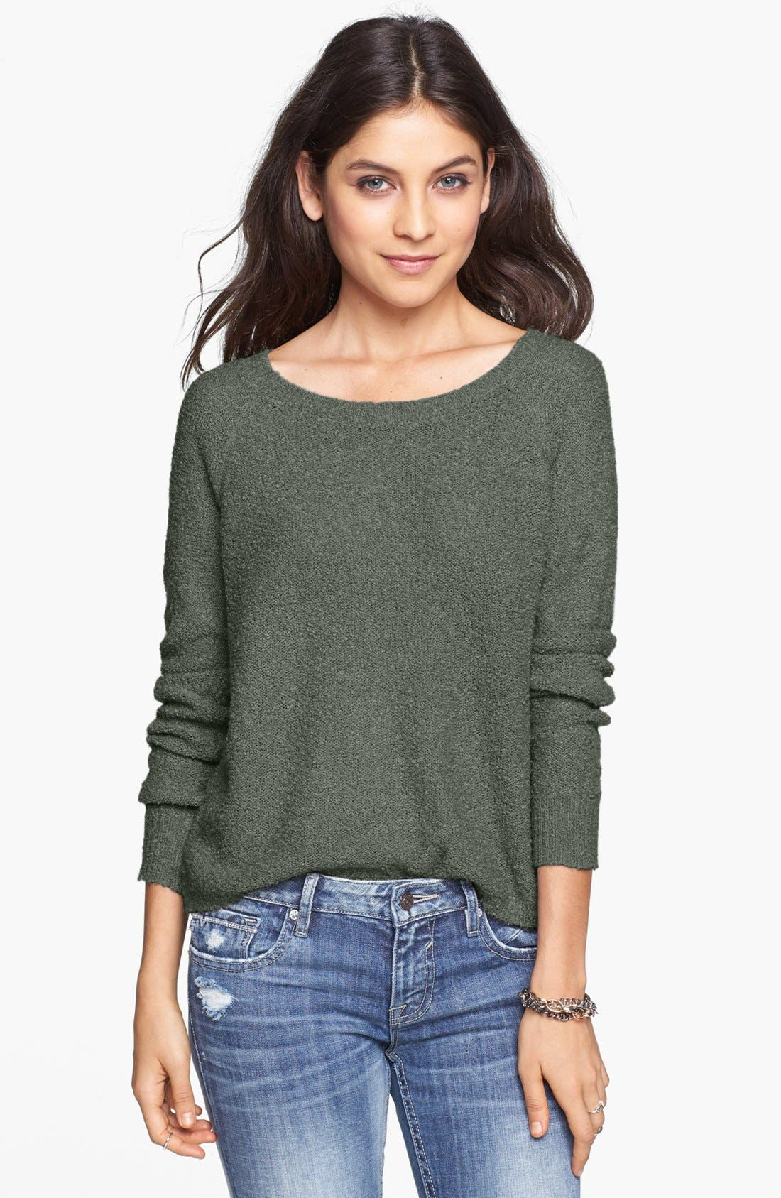 'Grunge' Textured Sweater,                             Main thumbnail 4, color,