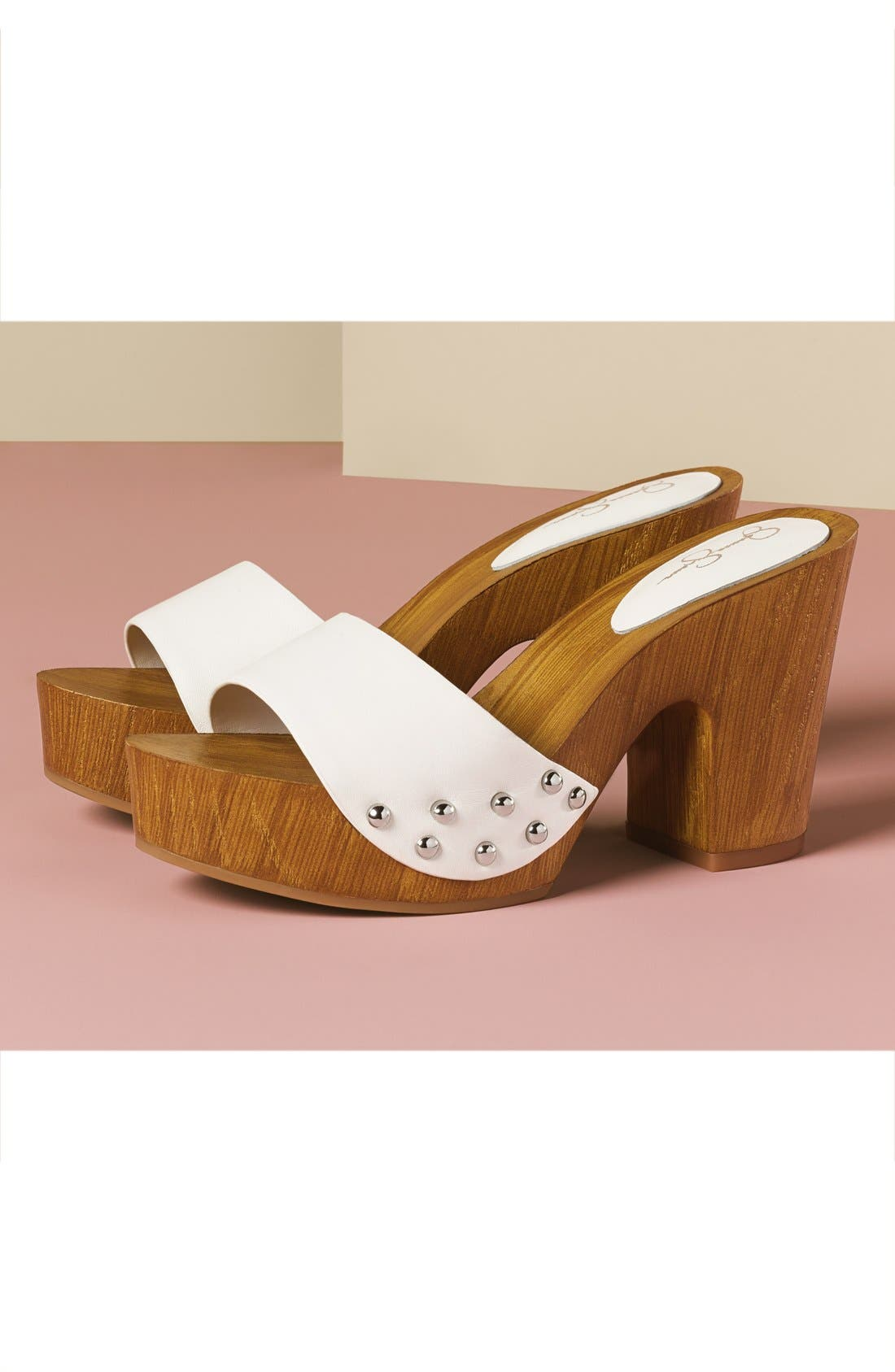 'Karema' Clog Platform Sandal,                             Alternate thumbnail 5, color,                             001