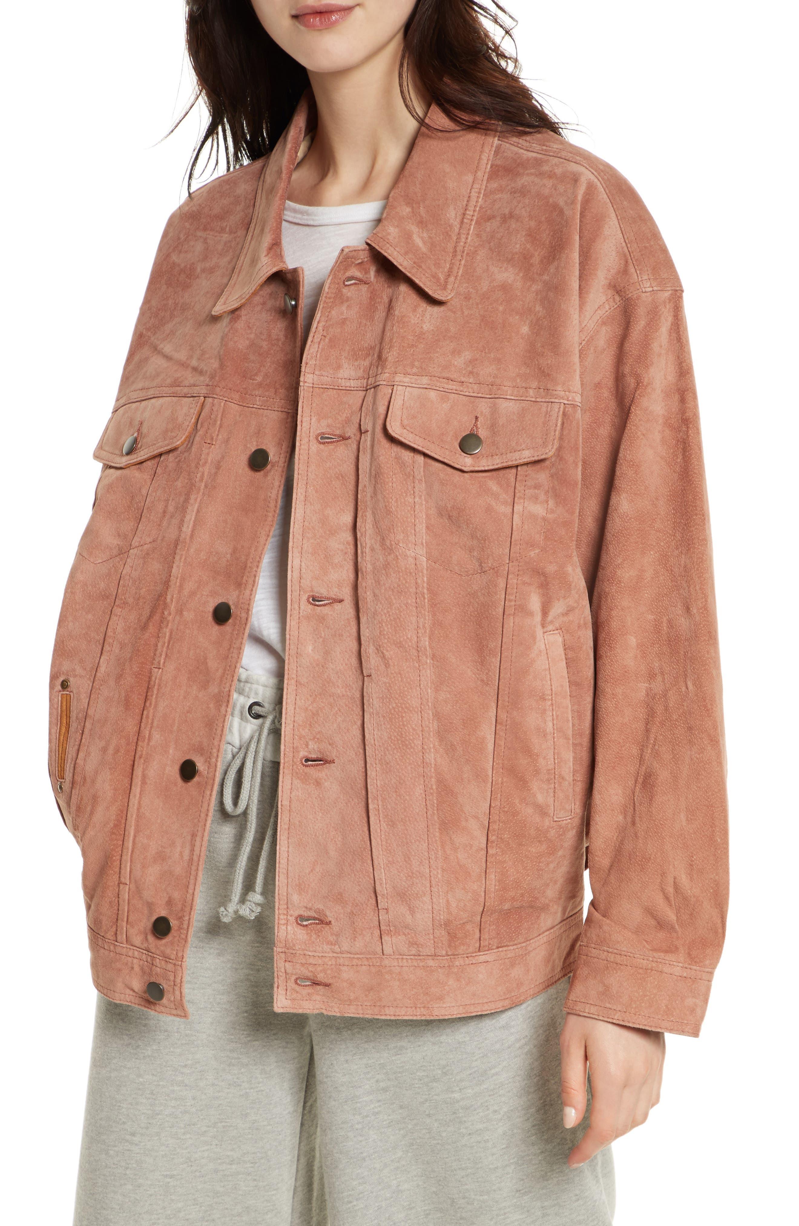 Suede Trucker Jacket,                         Main,                         color,