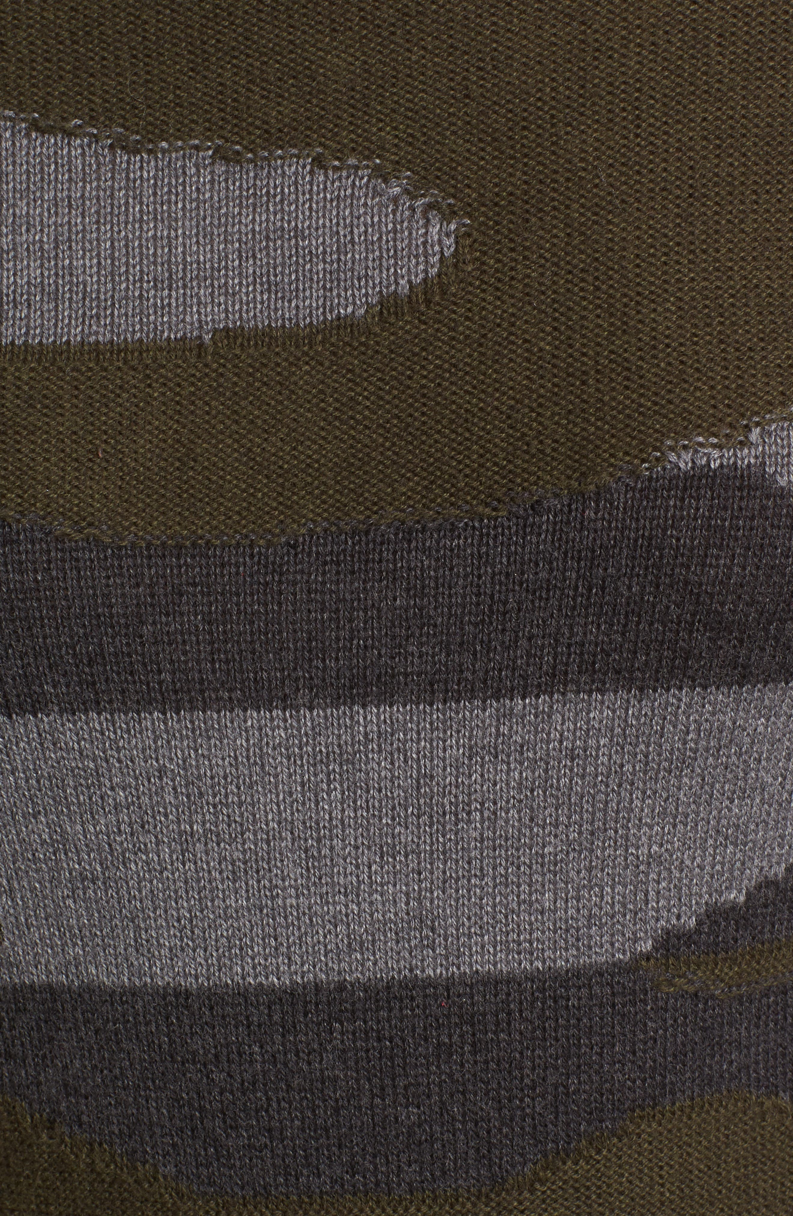 Camo Sweater Dress,                             Alternate thumbnail 5, color,                             313